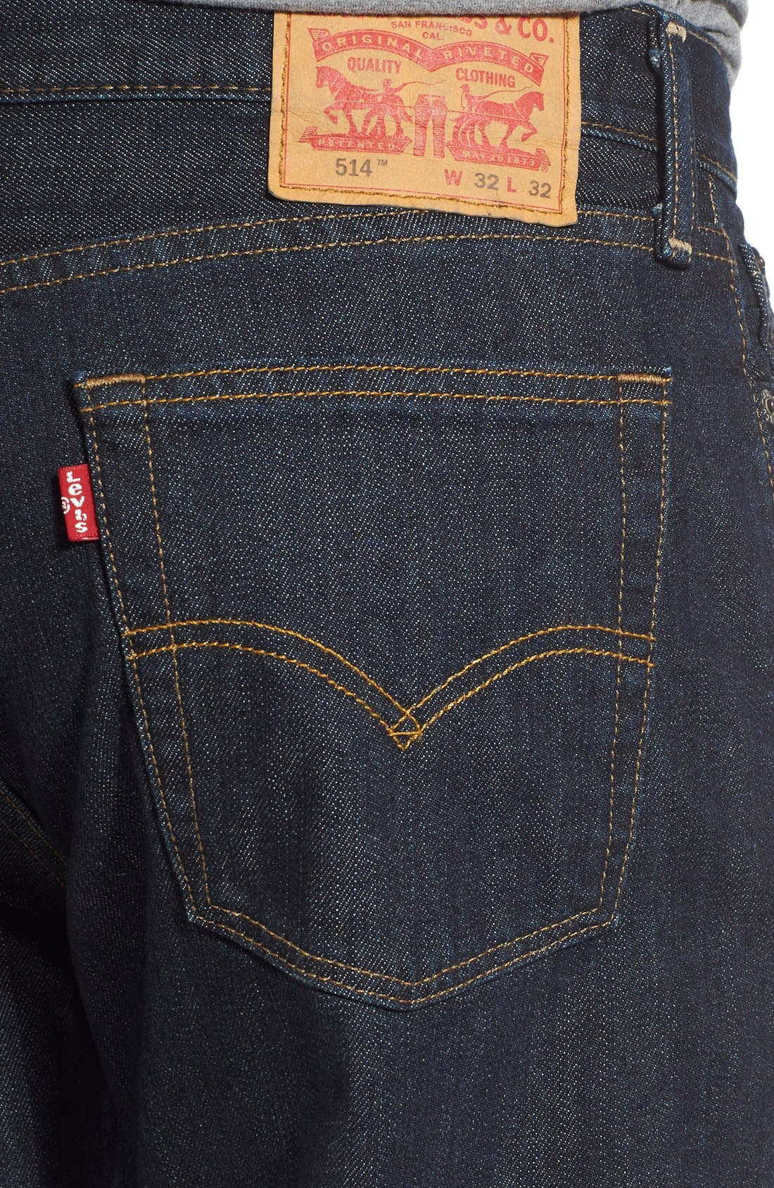 LEVI'S<SUP>®</SUP>, 514<sup>™</sup> Straight Leg Jeans, Alternate thumbnail 5, color, TUMBLED RIGID