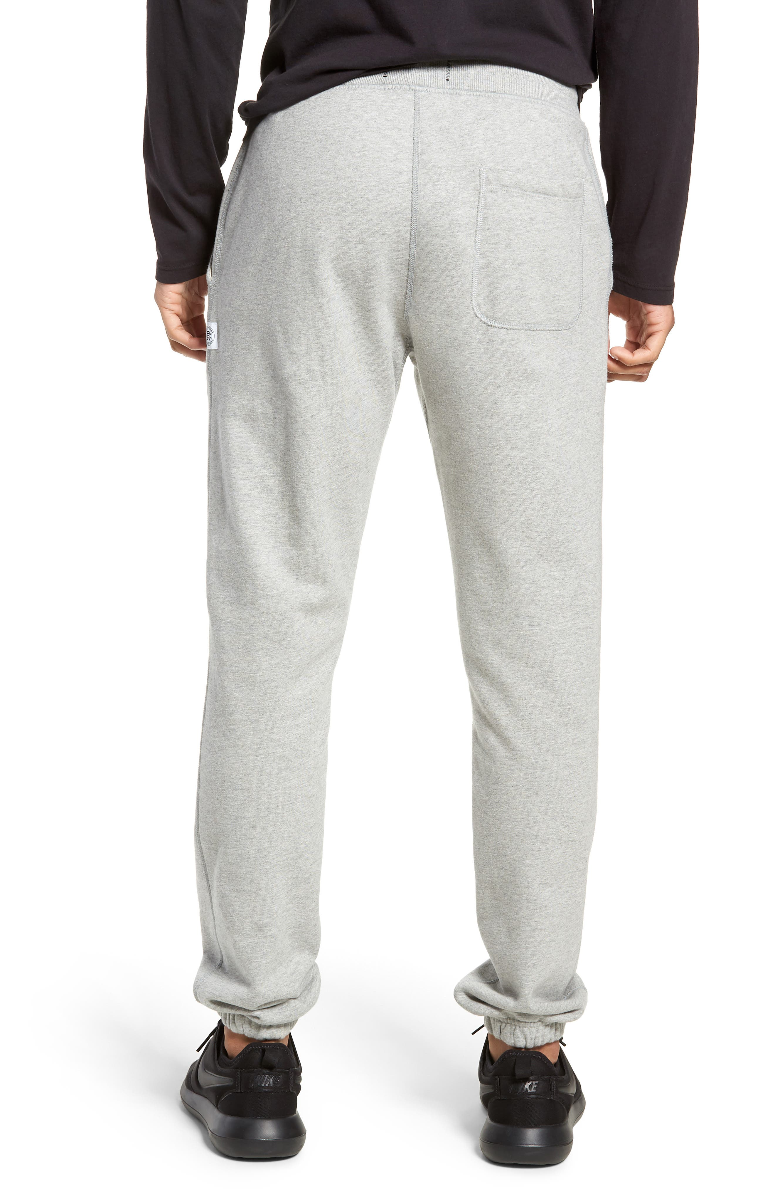 REIGNING CHAMP, Cotton Jogger Pants, Alternate thumbnail 2, color, HEATHER GREY