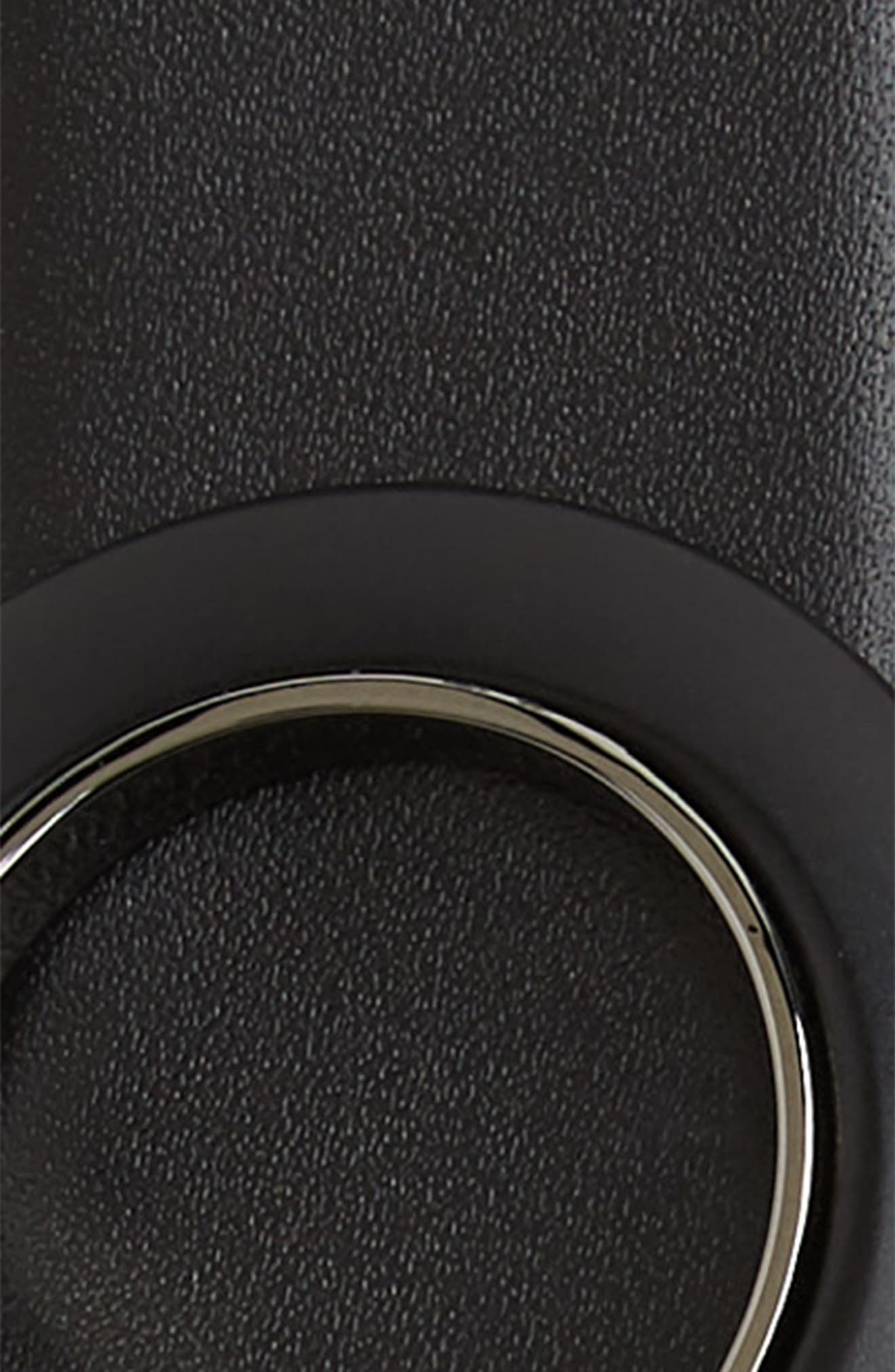 SALVATORE FERRAGAMO, Reversible Leather Belt, Alternate thumbnail 3, color, NERO / BLUE MARINE