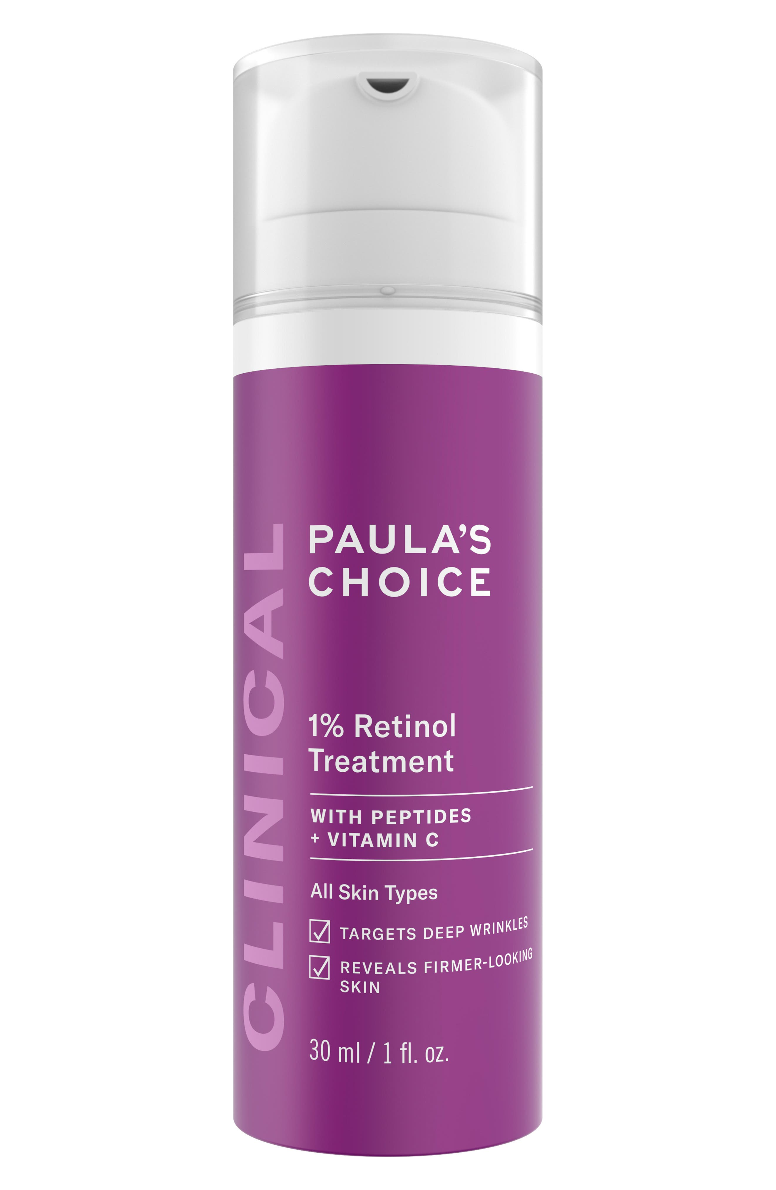 PAULA'S CHOICE, Clinical 1% Retinol Treatment Lotion, Main thumbnail 1, color, NO COLOR