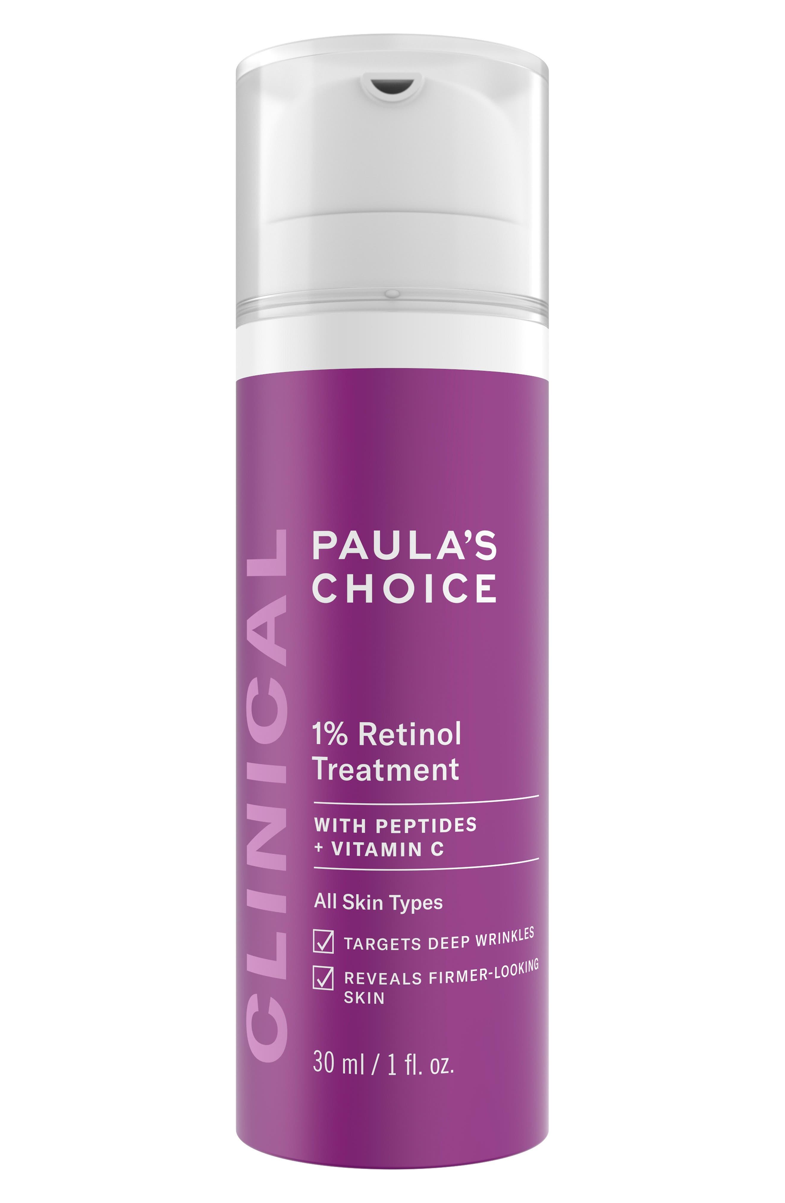 PAULA'S CHOICE Clinical 1% Retinol Treatment Lotion, Main, color, NO COLOR