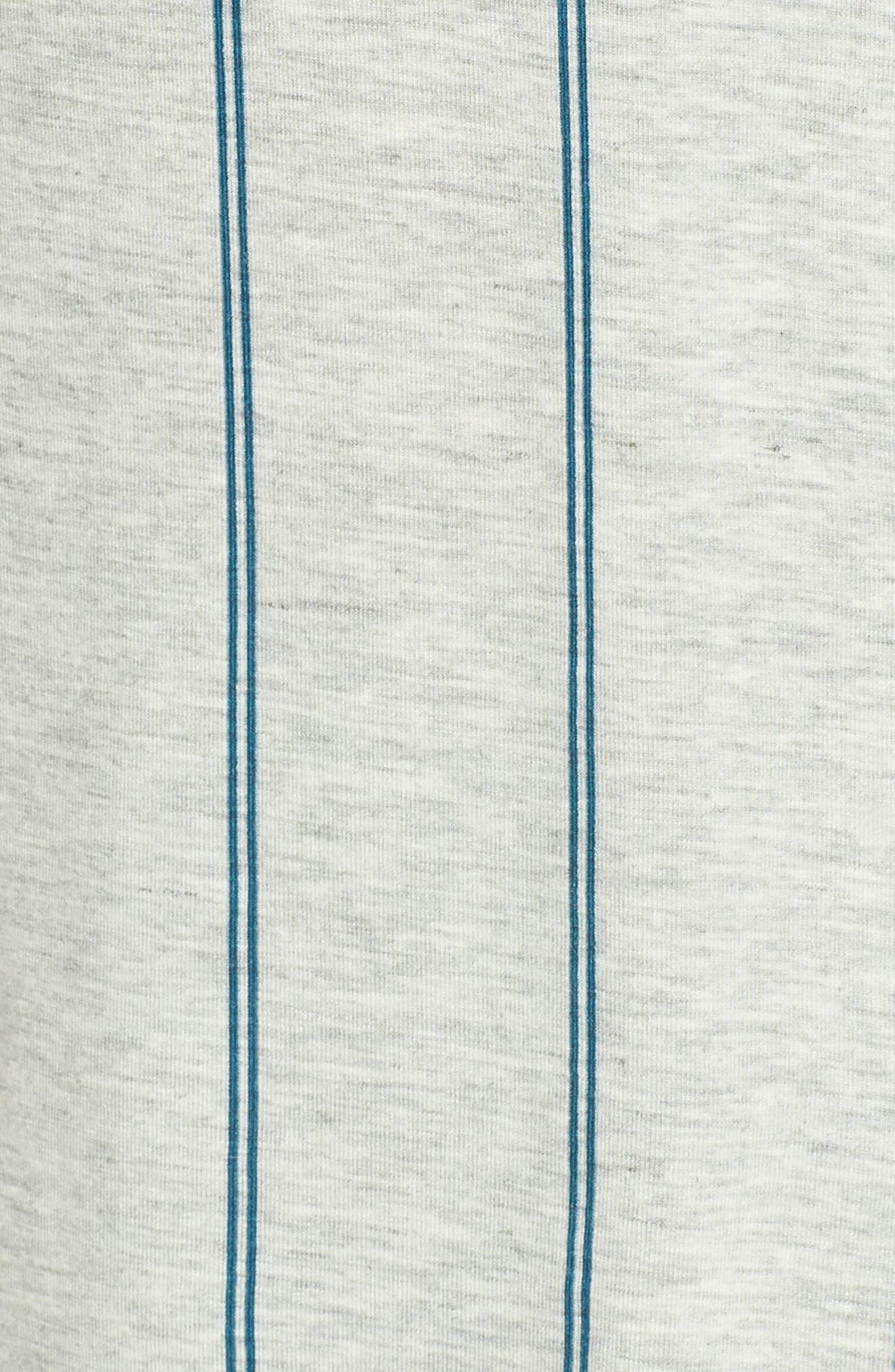 NORDSTROM LINGERIE, Moonlight Short Pajamas, Alternate thumbnail 5, color, GREY PEARL HTR MICRO STRIPE