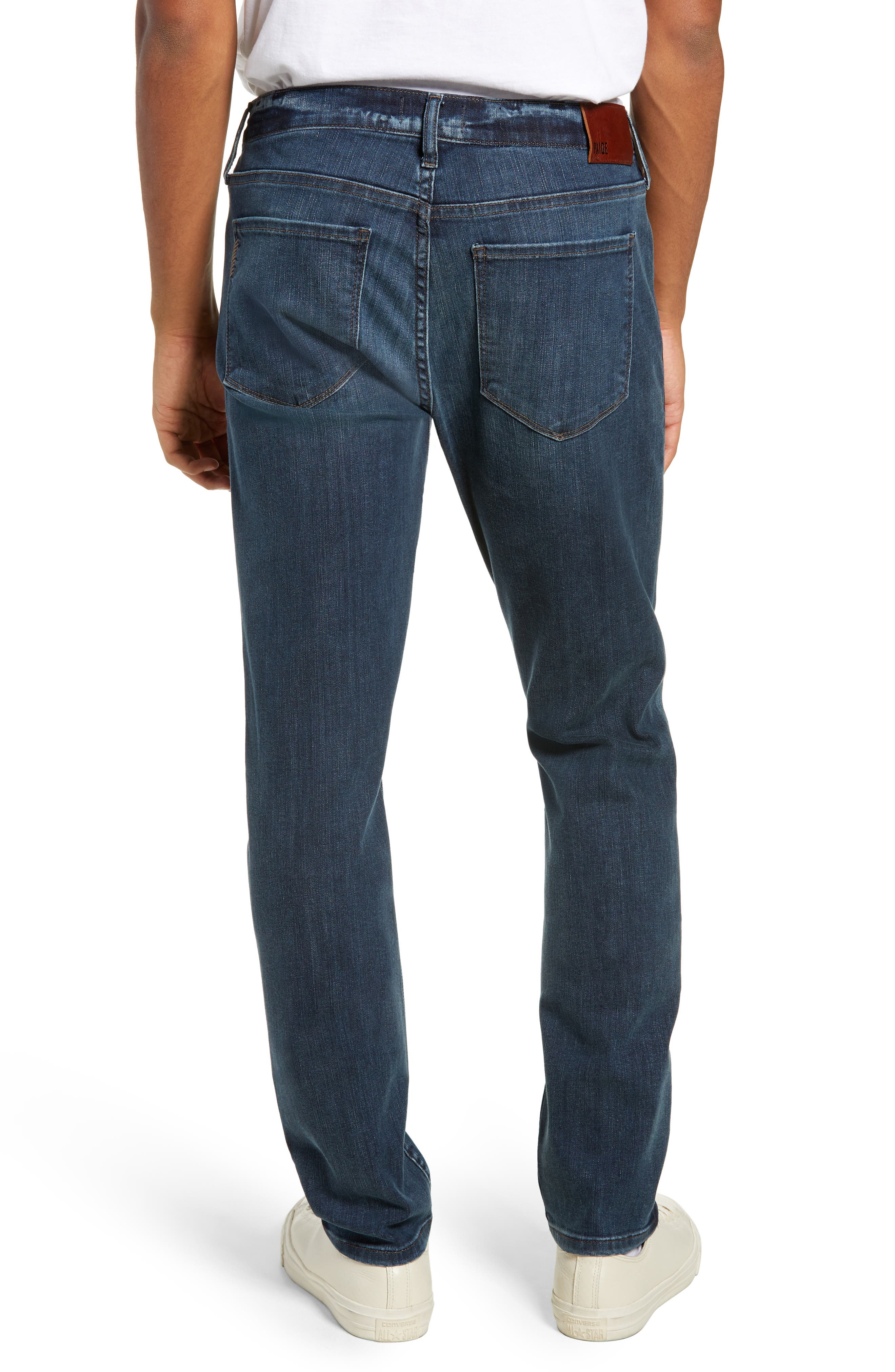 PAIGE, Transcend Vintage Federal Slim Straight Leg Jeans, Alternate thumbnail 2, color, ROARKE