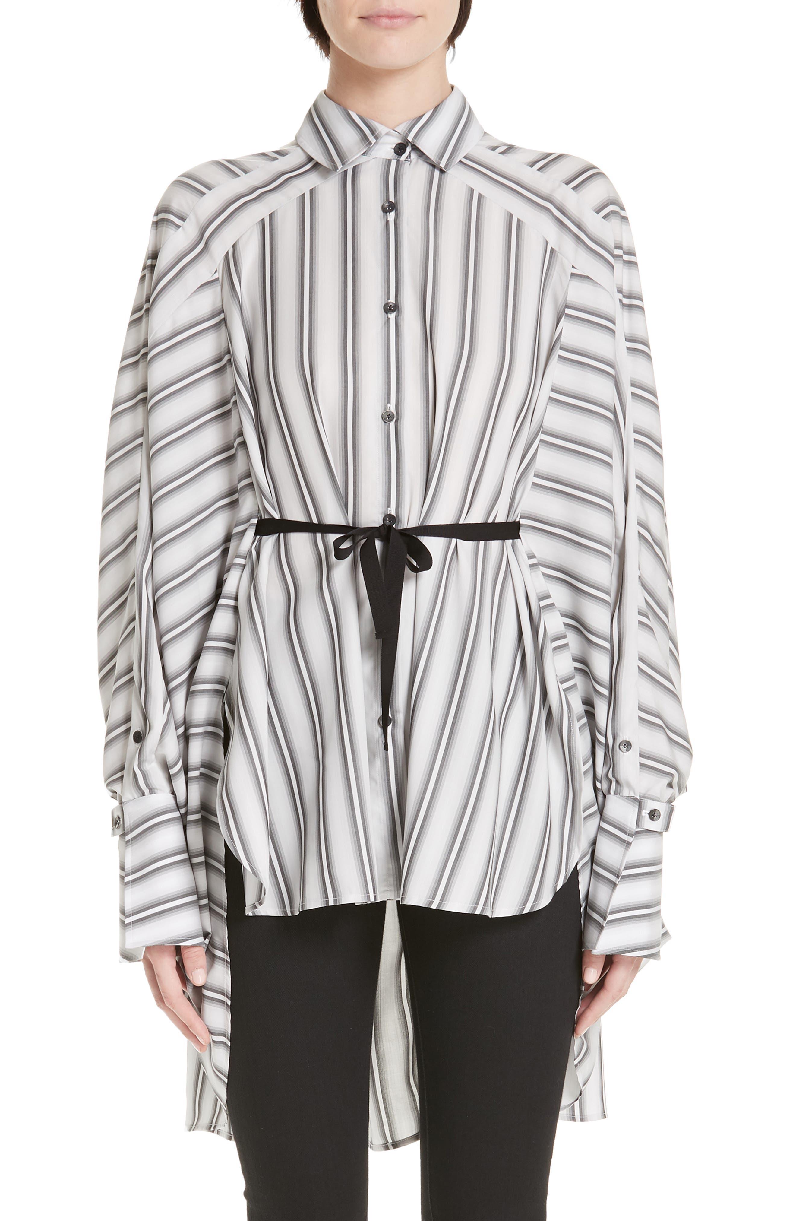 PALMER/HARDING, Streep Stripe Shirt, Main thumbnail 1, color, GRADIENT STRIPE WITH BLACK