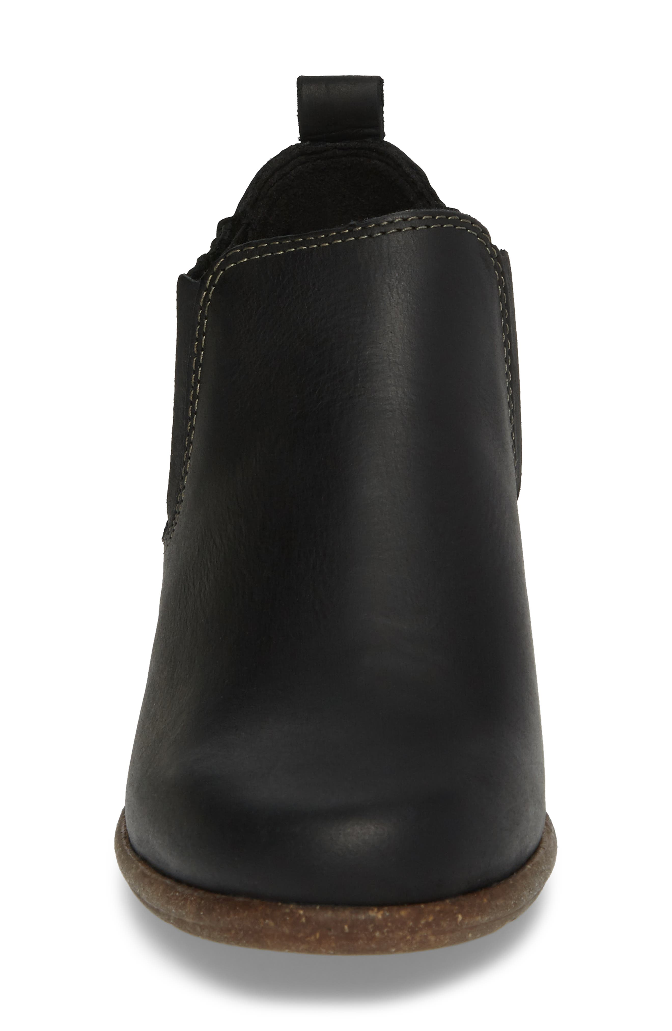 CLARKS<SUP>®</SUP>, Wilrose Jade Low Chelsea Bootie, Alternate thumbnail 4, color, 001