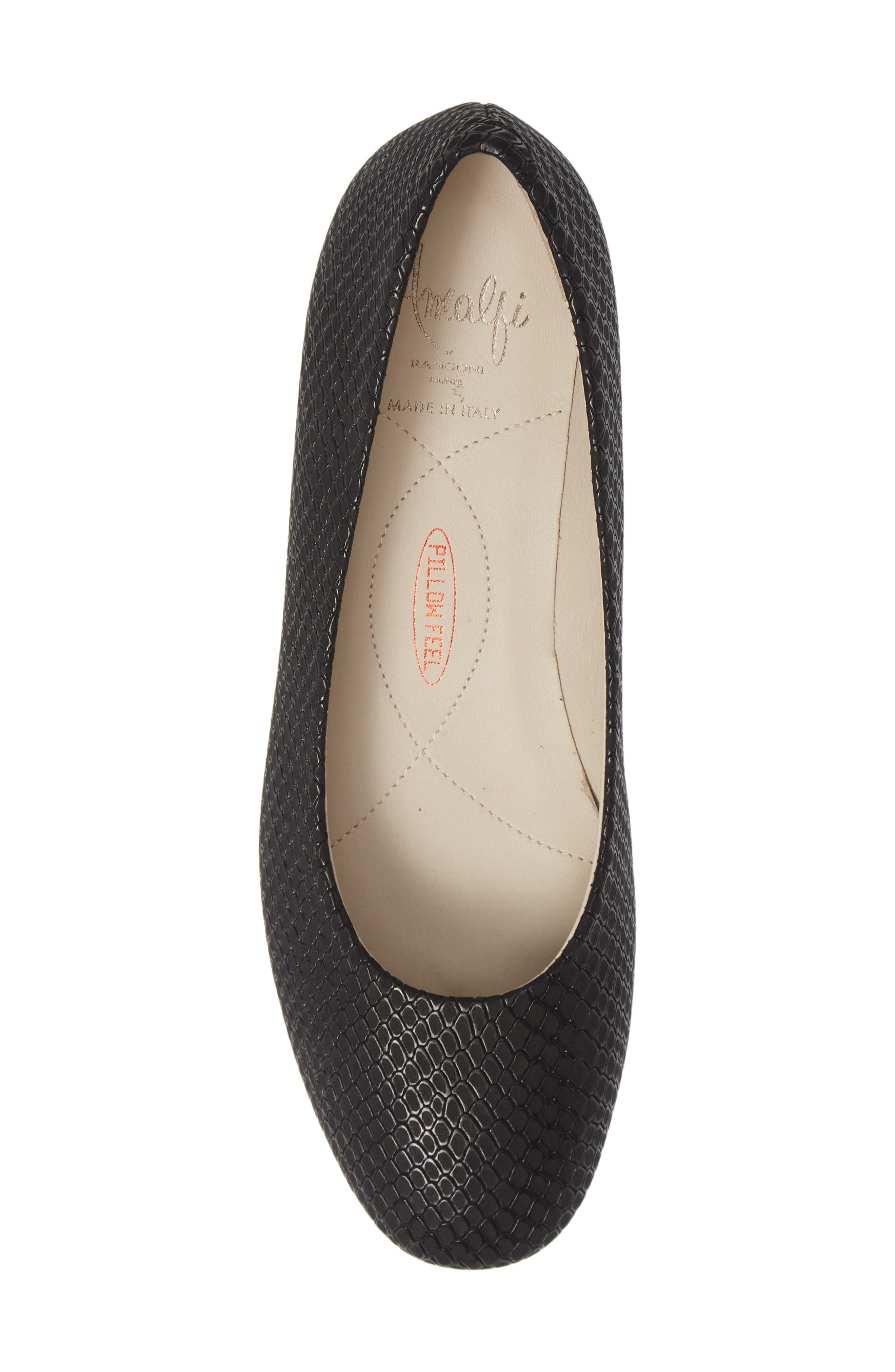 AMALFI BY RANGONI, Record Pump, Alternate thumbnail 5, color, BLACK OXIDE SUEDE