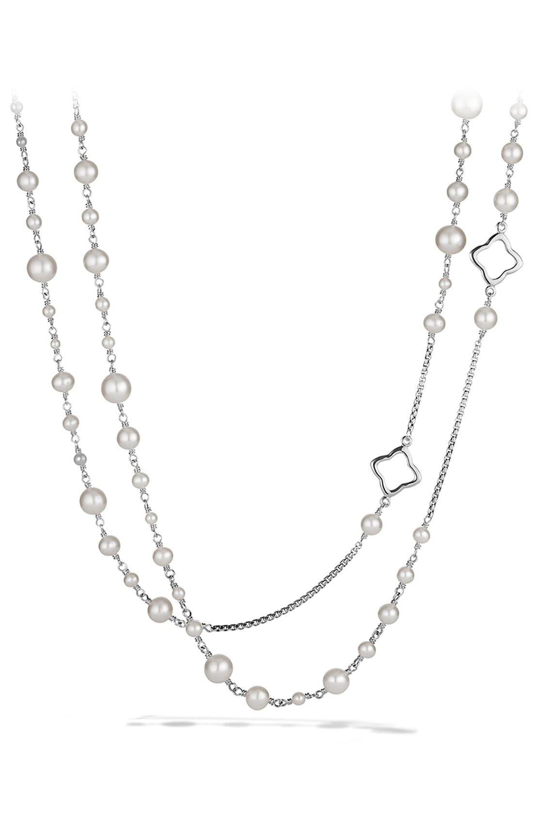 DAVID YURMAN, Pearl Chain Necklace, Main thumbnail 1, color, PEARL