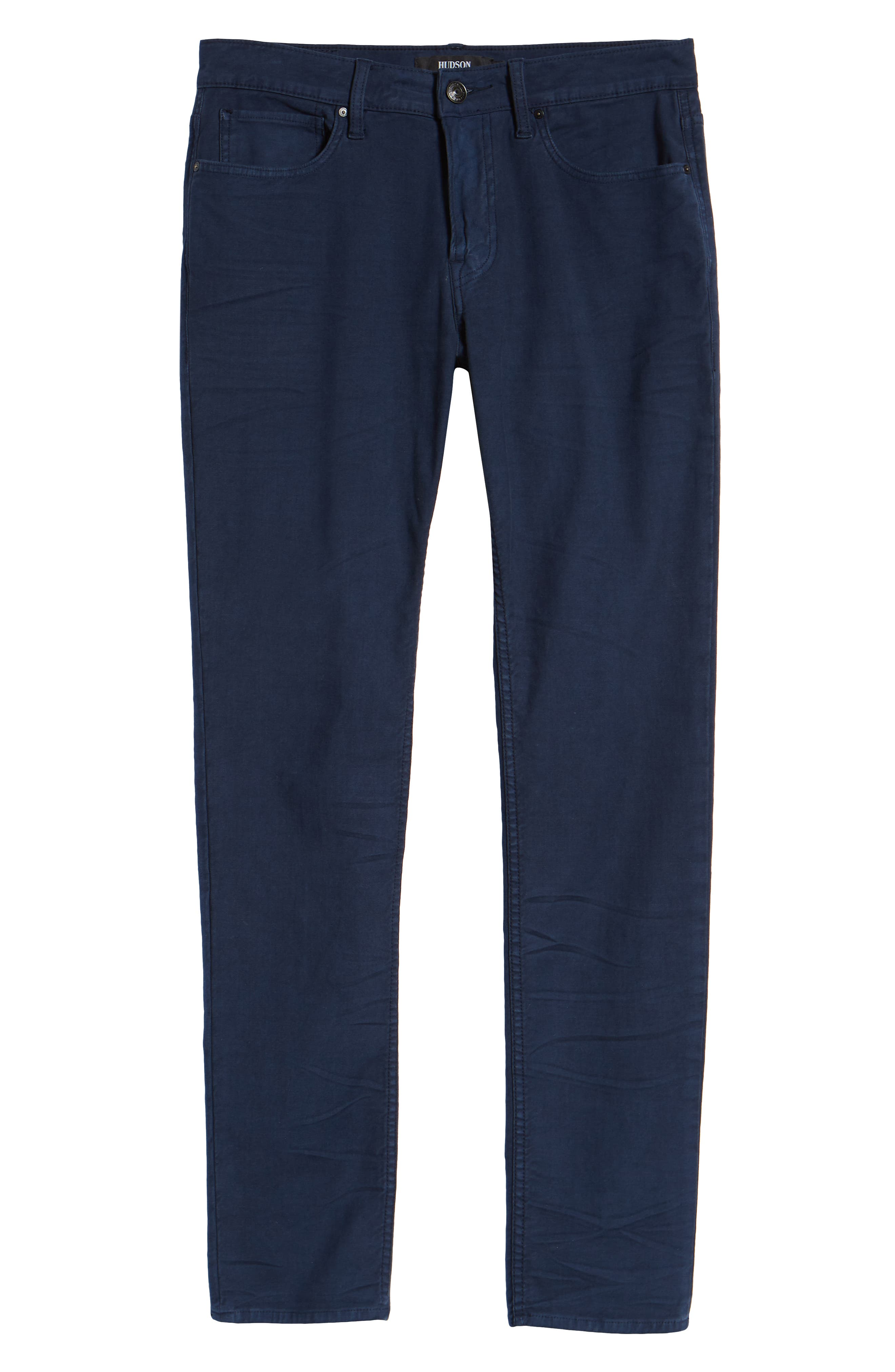 HUDSON JEANS, Axl Skinny Fit Jeans, Alternate thumbnail 6, color, SAILOR BLUE