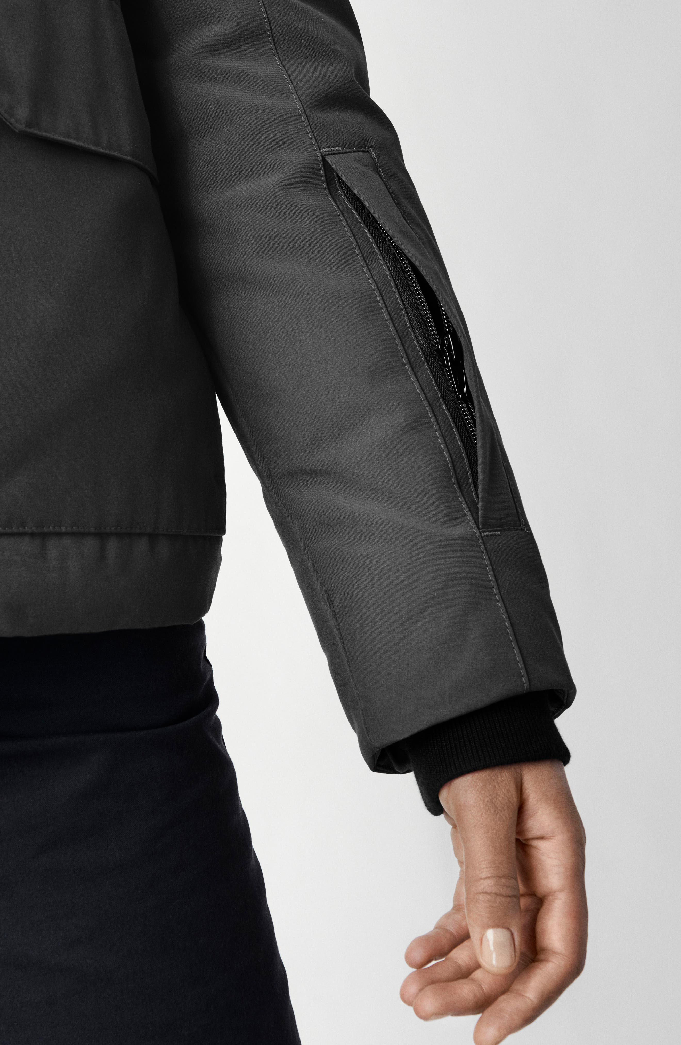 CANADA GOOSE, Blakely Water Resistant 625 Fill Power Down Parka, Alternate thumbnail 7, color, GRAPHITE