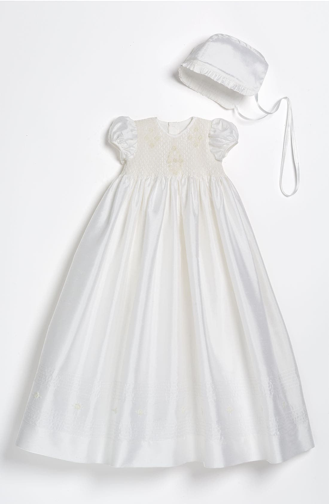 LITTLE THINGS MEAN A LOT Silk Gown, Main, color, WHITE