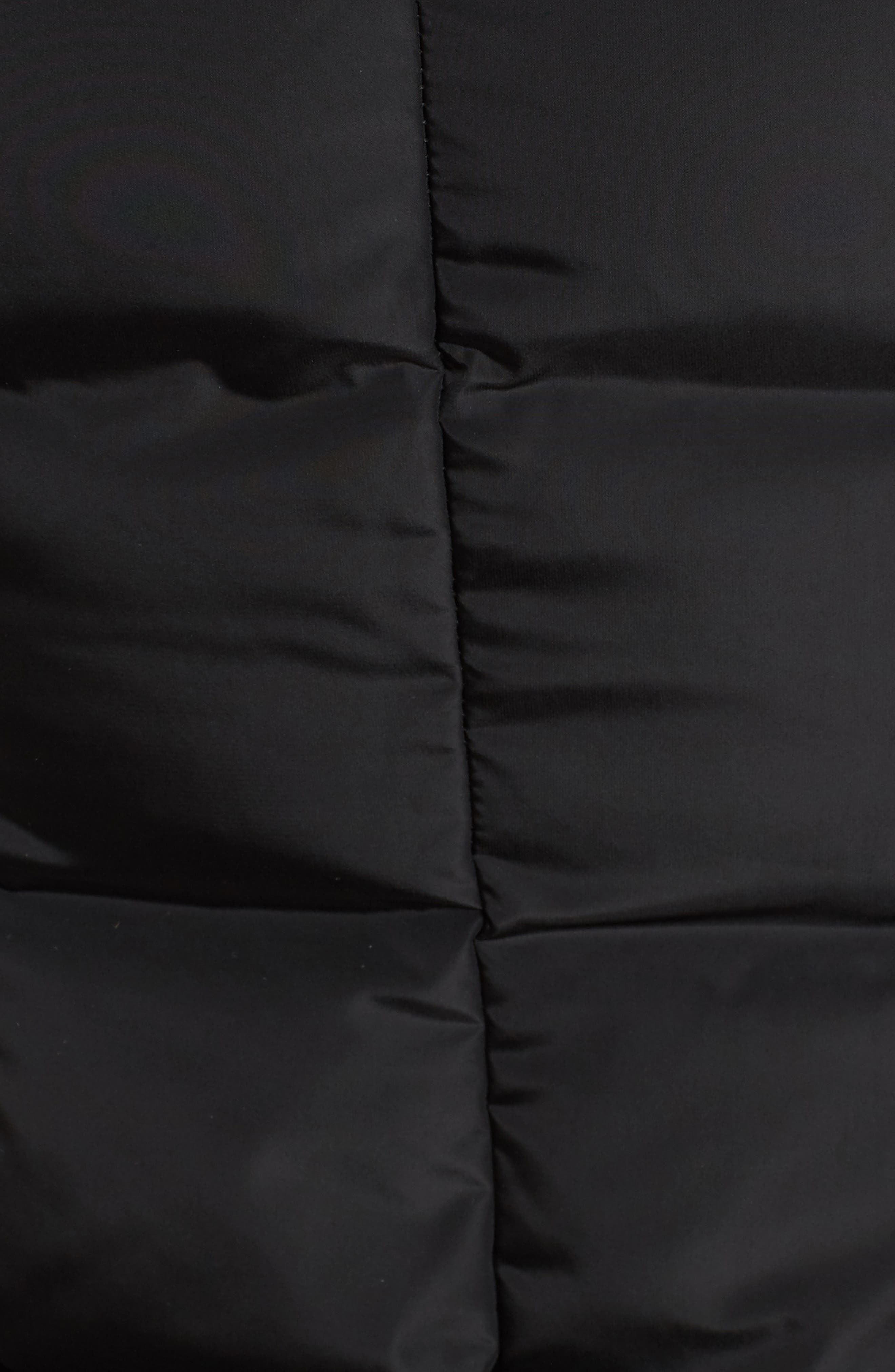 MACKAGE, Hooded Down Parka with Inset Bib & Genuine Fox Fur Trim, Alternate thumbnail 6, color, 001
