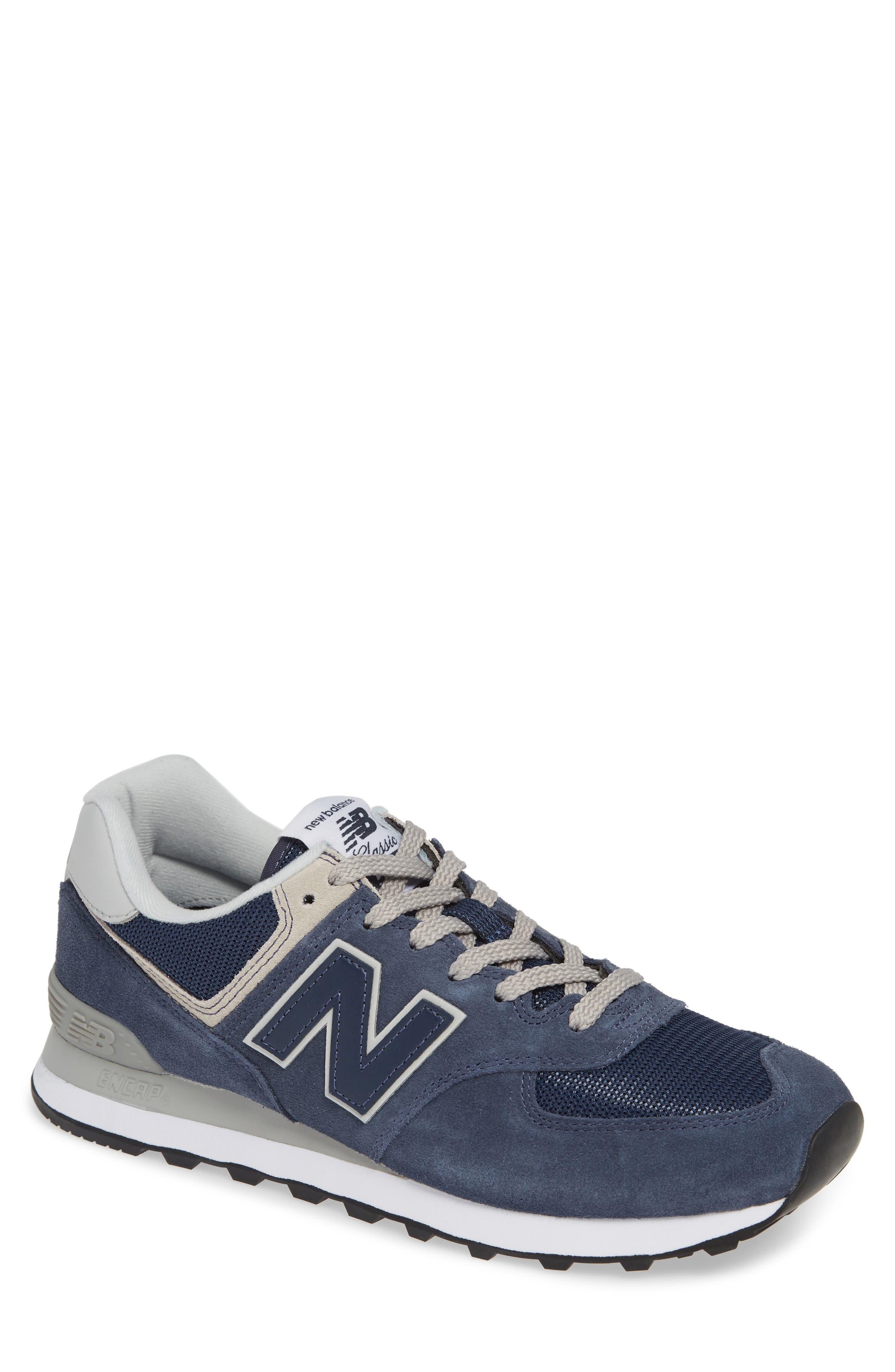 NEW BALANCE, 574 Classic Sneaker, Main thumbnail 1, color, BLACK IRIS