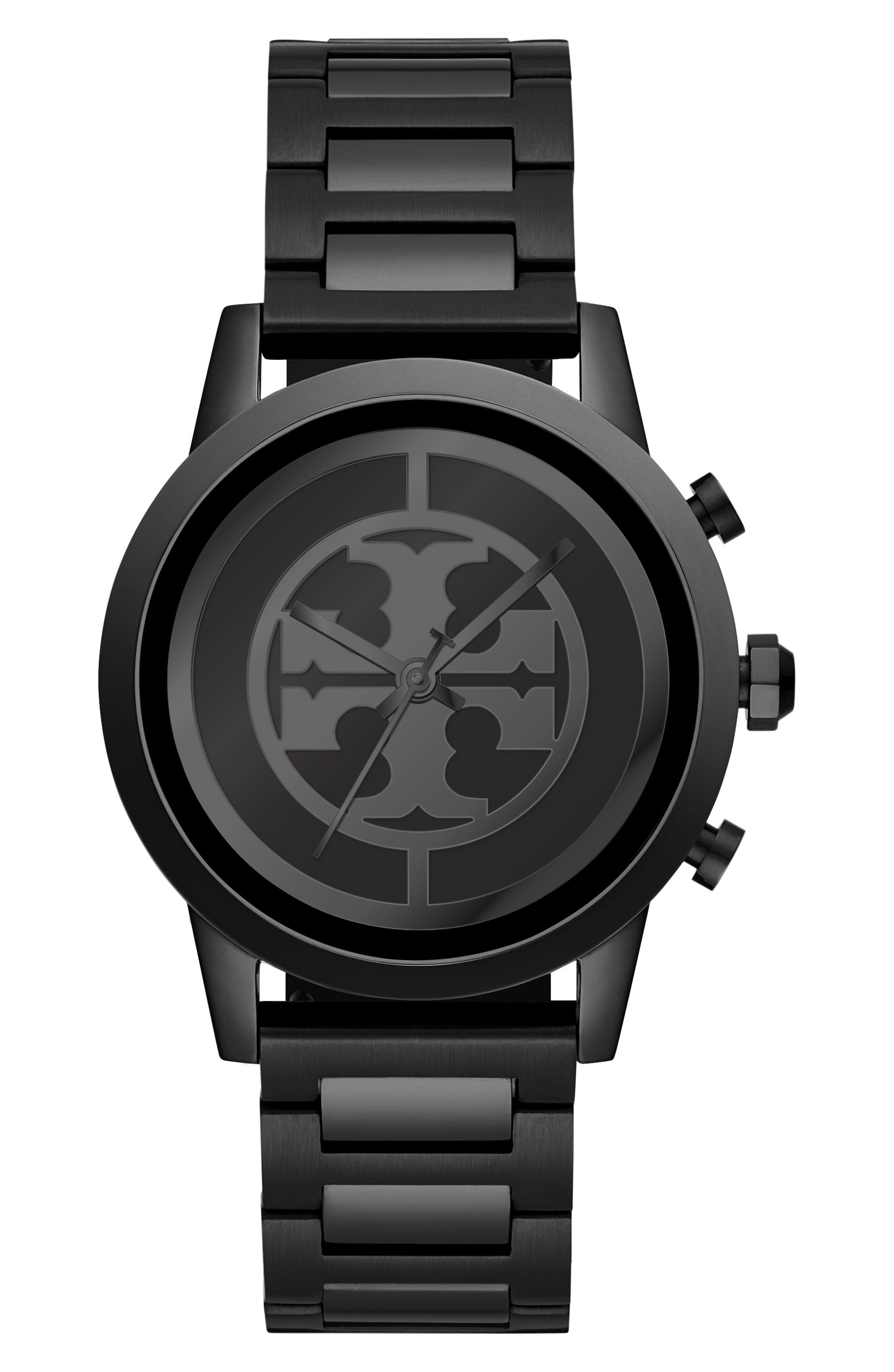 TORY BURCH, ToryTrack Gigi Touchscreen Smart Watch, 40mm, Alternate thumbnail 4, color, BLACK