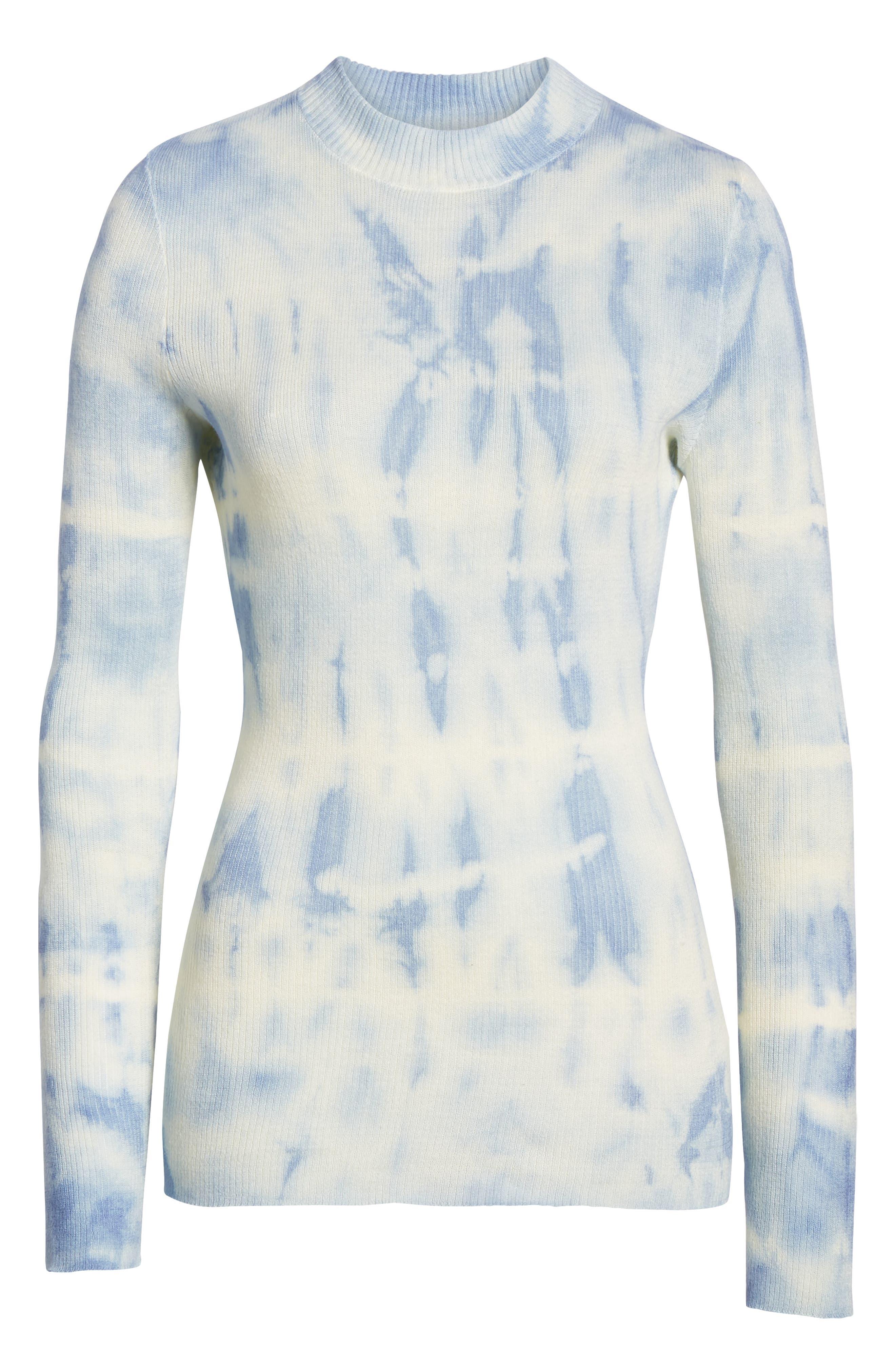 SOMETHING NAVY, Mock Neck Sweater, Alternate thumbnail 8, color, 740