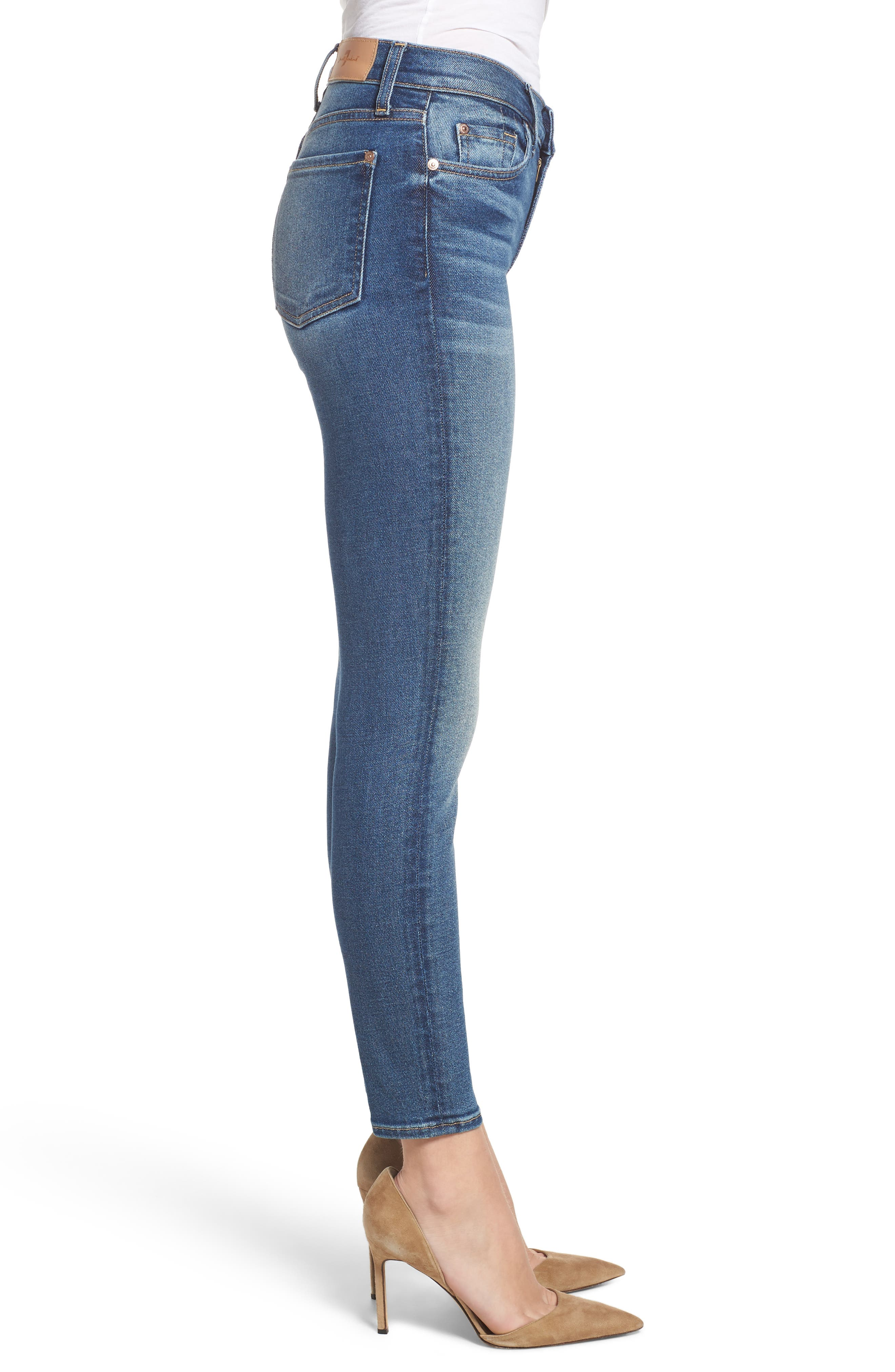 7 FOR ALL MANKIND<SUP>®</SUP>, Luxe Vintage The Ankle Skinny Jeans, Alternate thumbnail 4, color, LUXE VINTAGE FEMME
