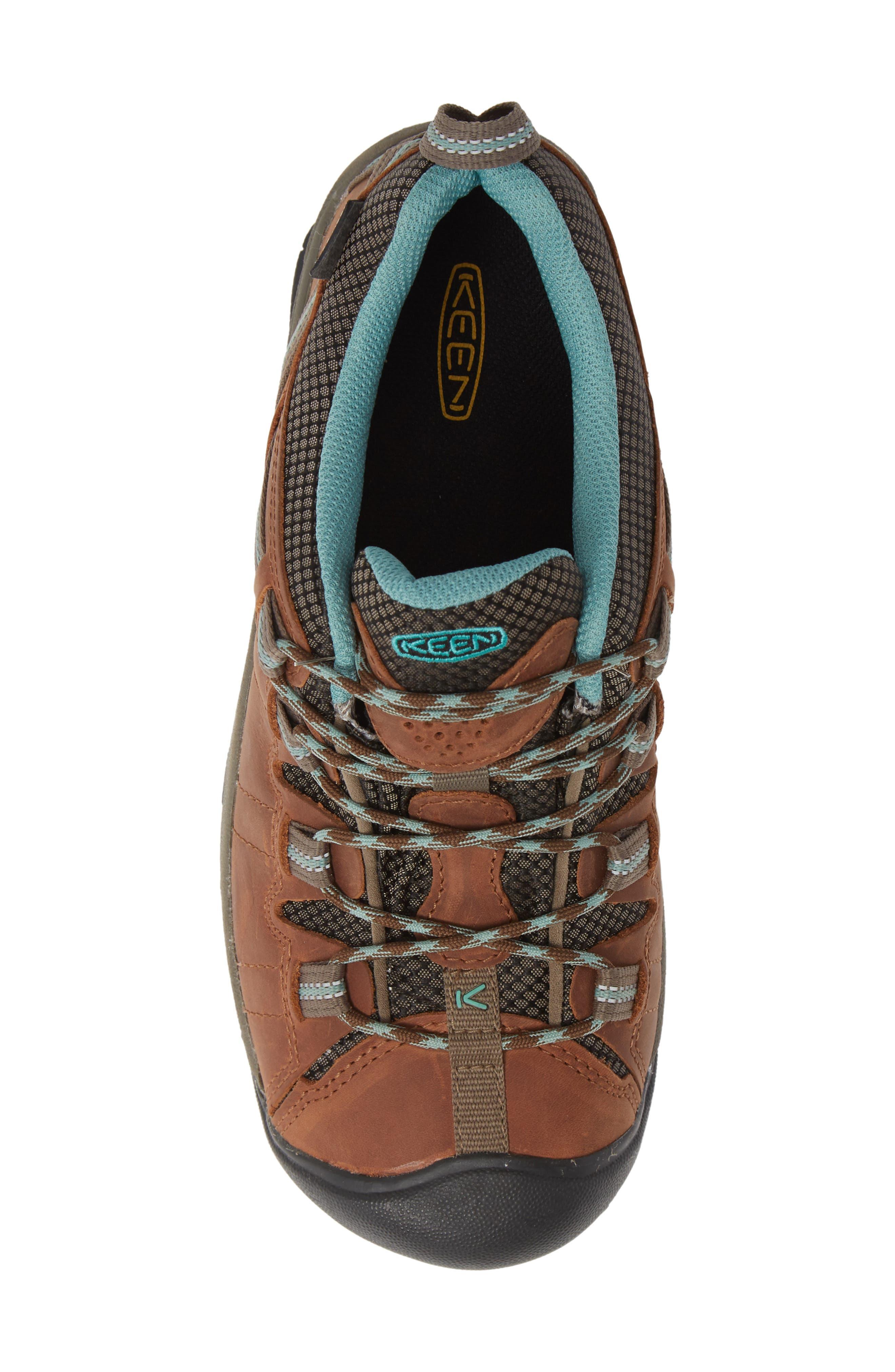 KEEN, 'Targhee II' Walking Shoe, Alternate thumbnail 5, color, DARK EARTH/ WASABI NUBUCK
