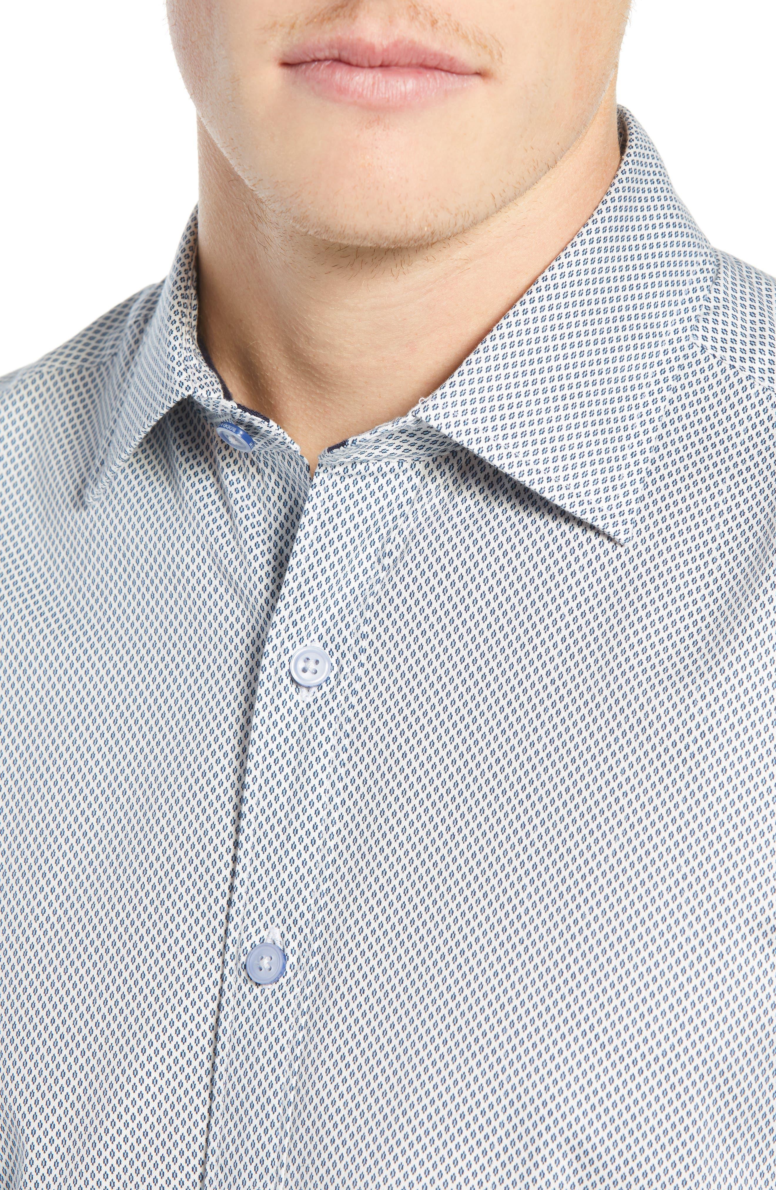 RODD & GUNN, Helston Way Regular Fit Sport Shirt, Alternate thumbnail 2, color, SNOW
