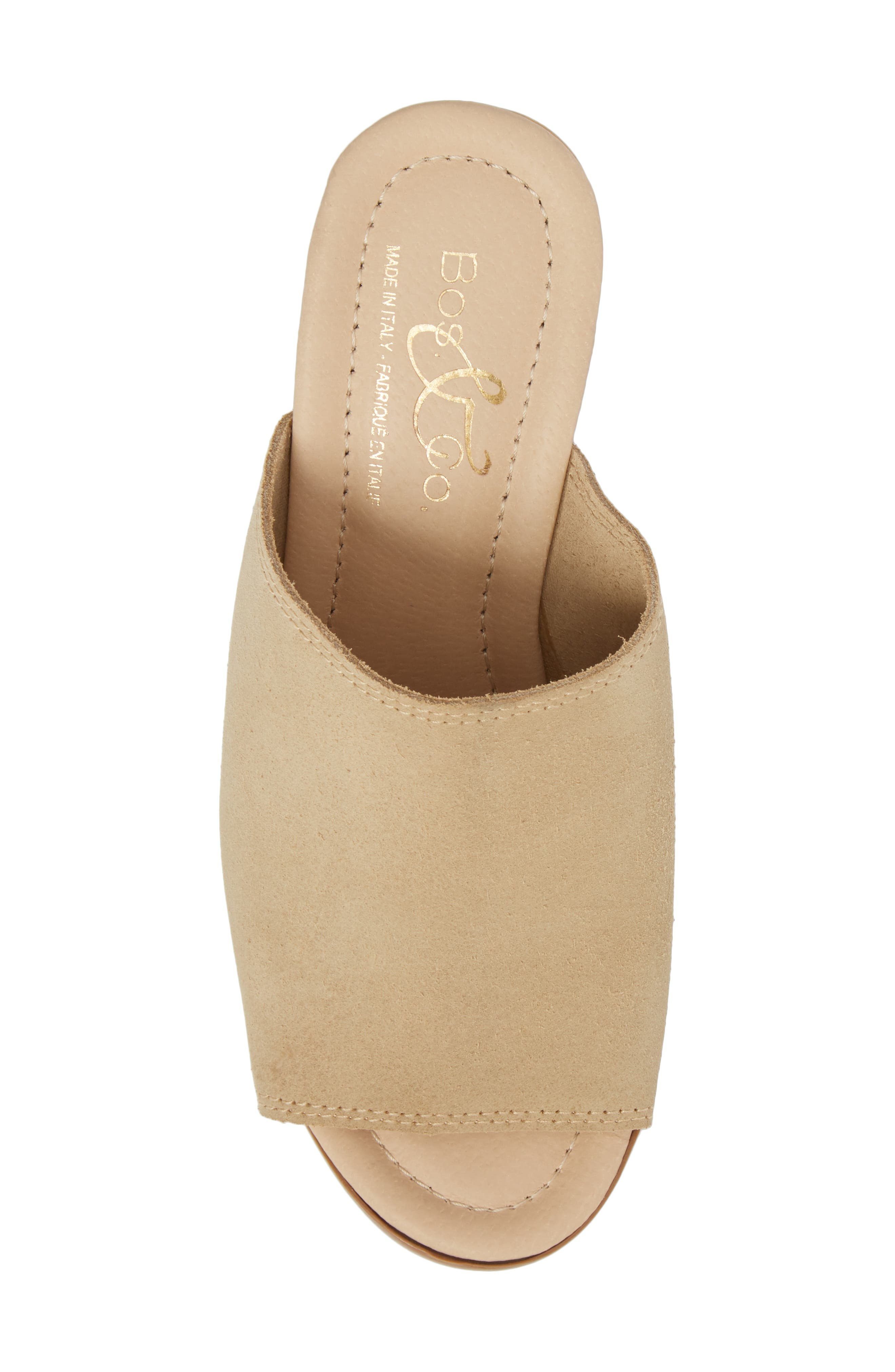 BOS. & CO., Fawn Mule, Alternate thumbnail 5, color, SAND CROSTA LEATHER