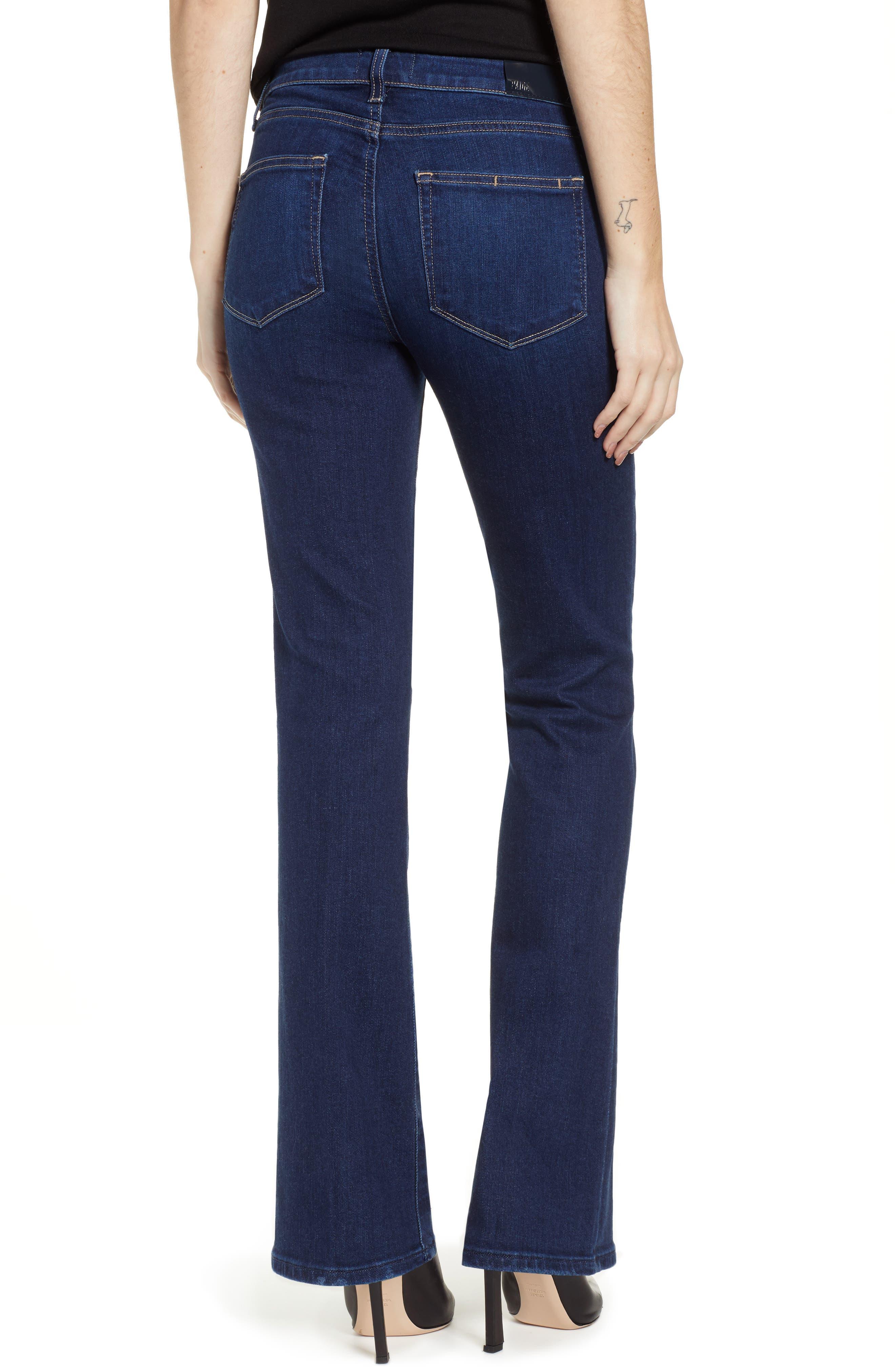 PAIGE, Transcend Vintage - Manhattan High Waist Bootcut Jeans, Alternate thumbnail 2, color, 400
