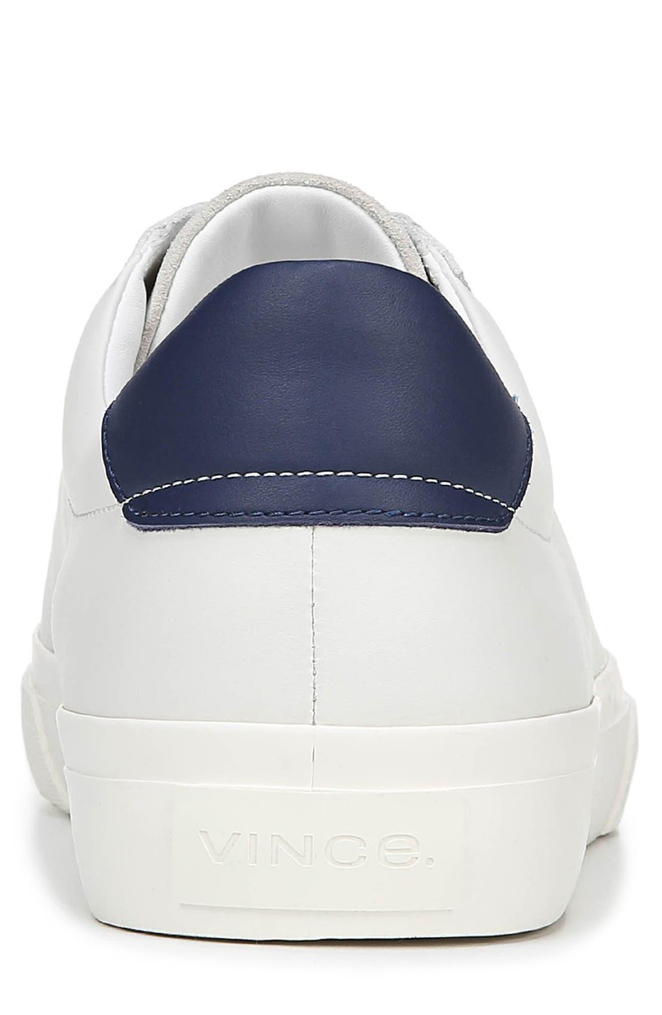 VINCE, Fulton Sneaker, Alternate thumbnail 7, color, WHITE