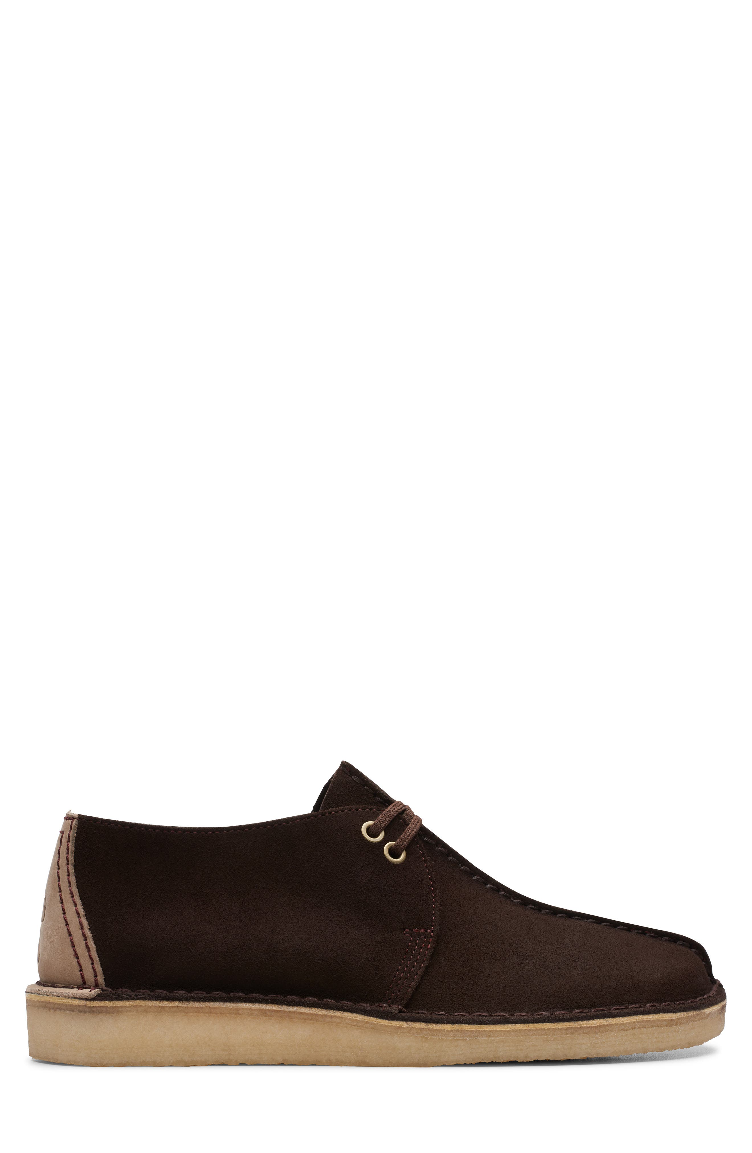 CLARKS<SUP>®</SUP>, Desert Trek Chukka Boot, Alternate thumbnail 2, color, DARK BROWN SUEDE