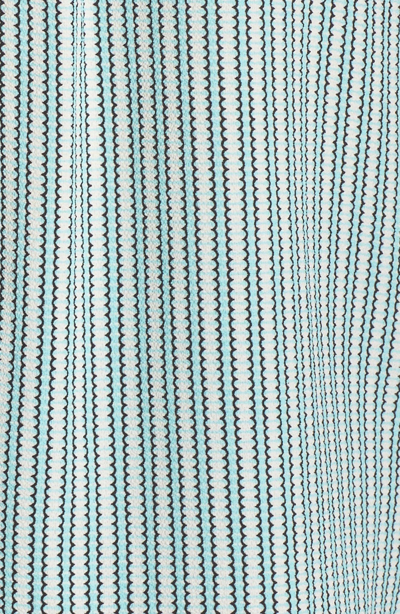 VINCE CAMUTO, Linear Motion Blouse, Alternate thumbnail 5, color, BRIGHT AQUA