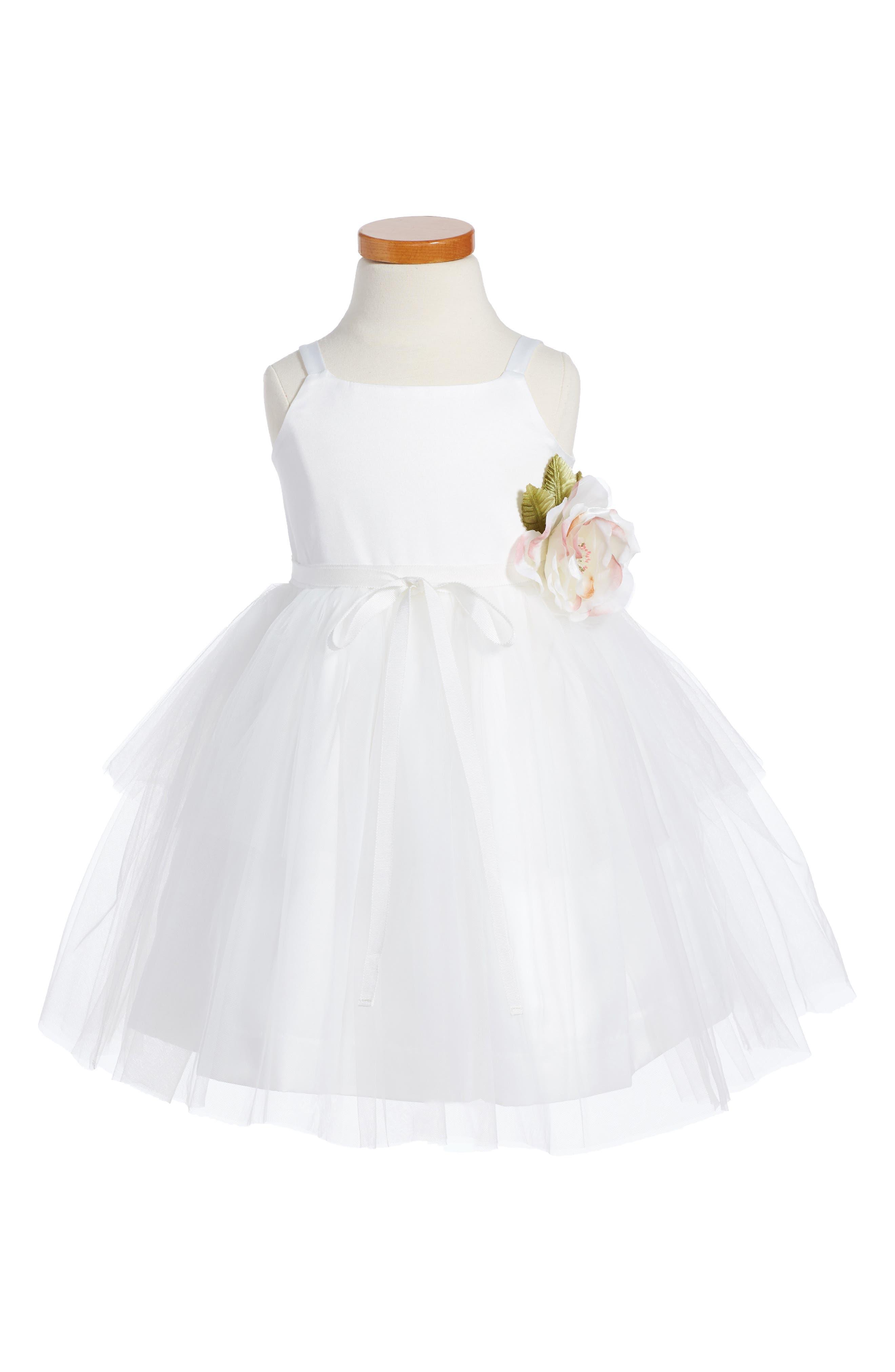 US ANGELS, 'Ballerina' Dress, Main thumbnail 1, color, IVORY