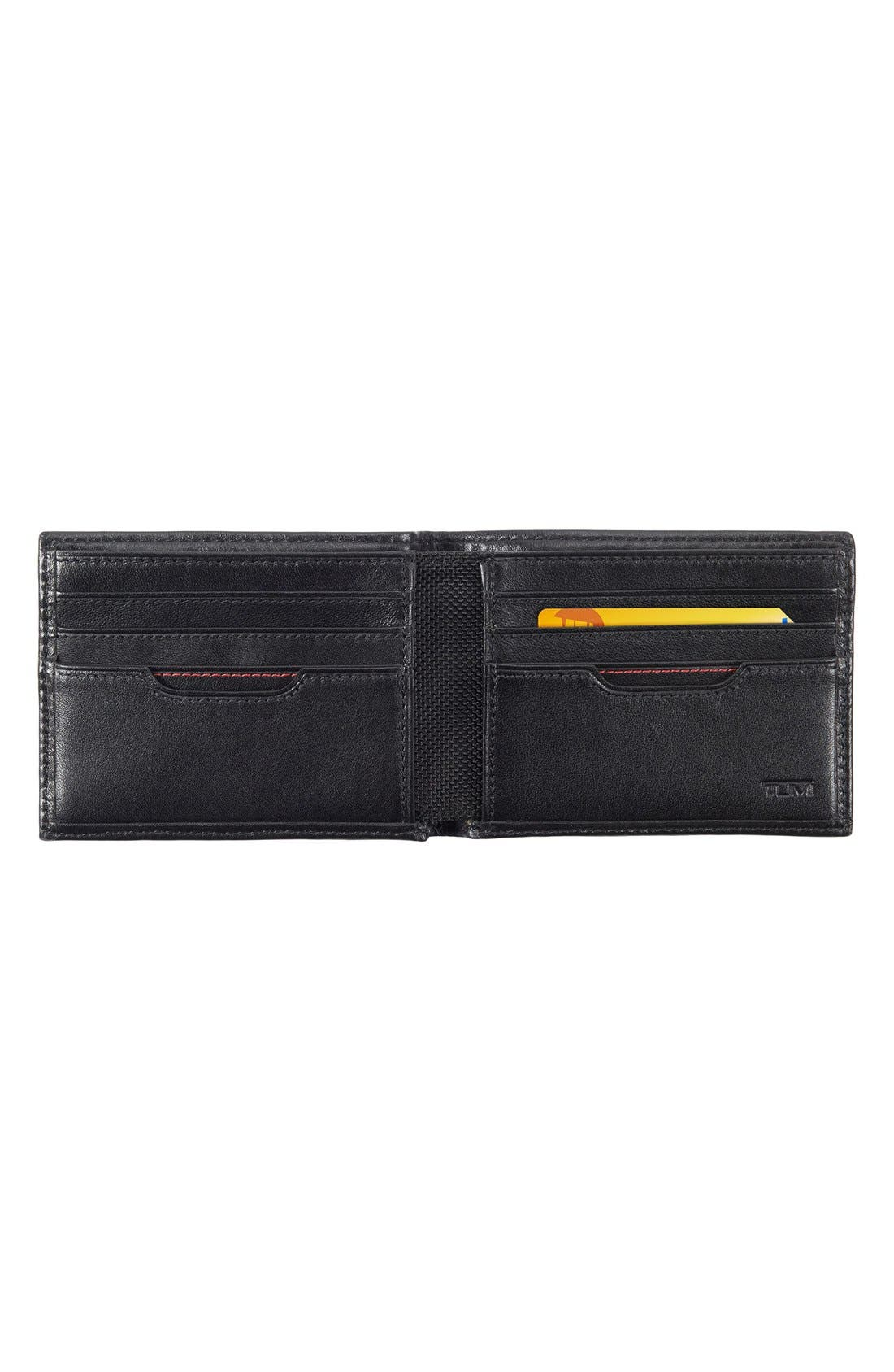 TUMI, Delta Global - ID Lock<sup>™</sup> Shielded Double Billfold Wallet, Alternate thumbnail 2, color, BLACK