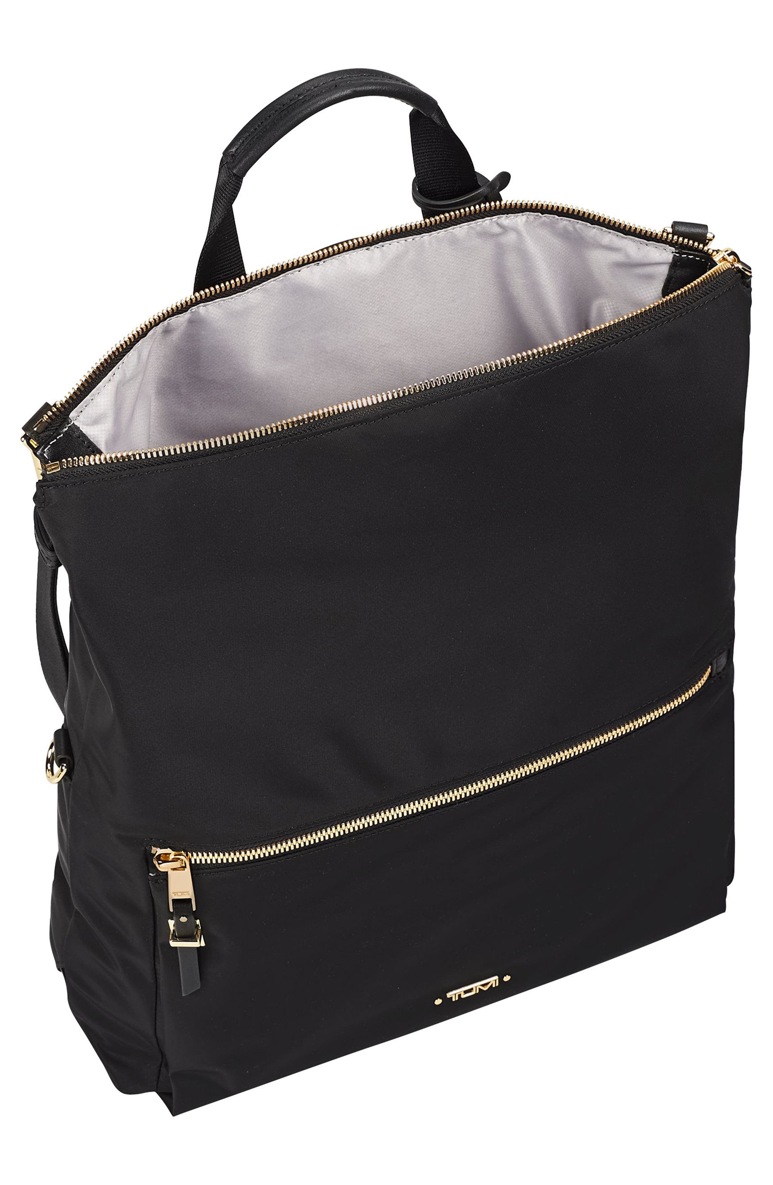 TUMI, Voyageur Jena Nylon Convertible Backpack, Alternate thumbnail 4, color, BLACK