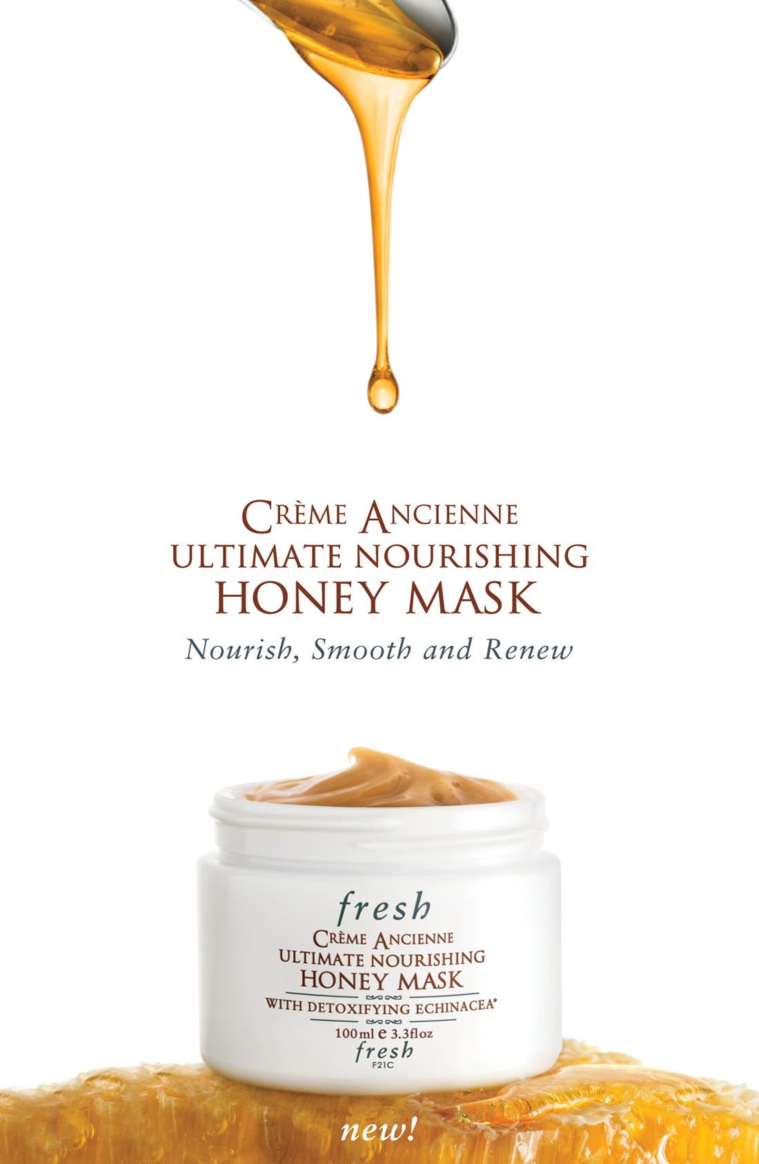 FRESH<SUP>®</SUP>, Crème Ancienne<sup>®</sup> Ultimate Nourishing Honey Mask, Alternate thumbnail 3, color, NO COLOR