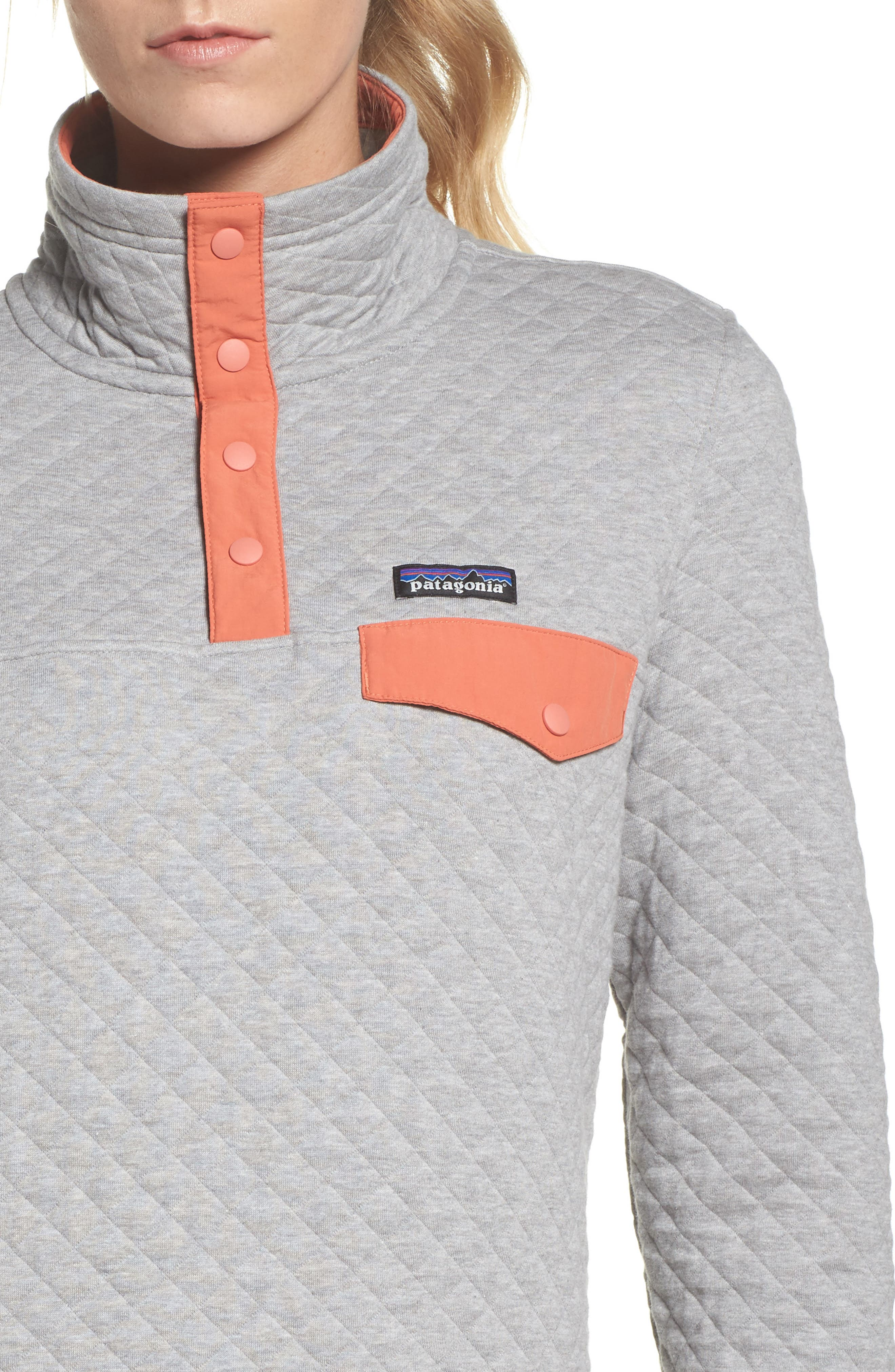 PATAGONIA, Snap-T<sup>®</sup> Quilted Pullover, Alternate thumbnail 5, color, 023