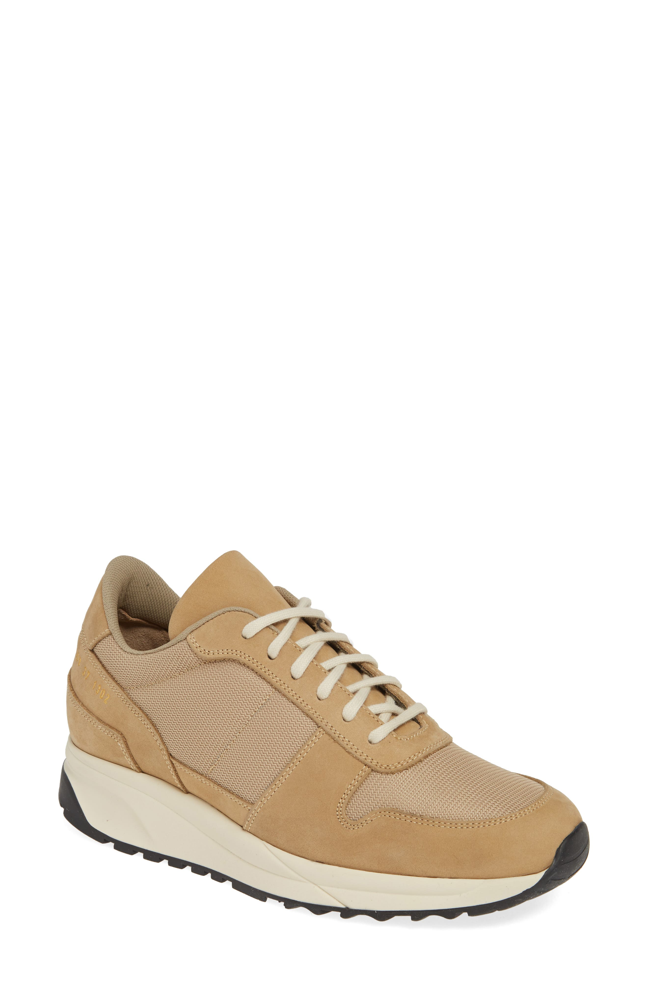 COMMON PROJECTS, Track Vintage Sneaker, Main thumbnail 1, color, TAN