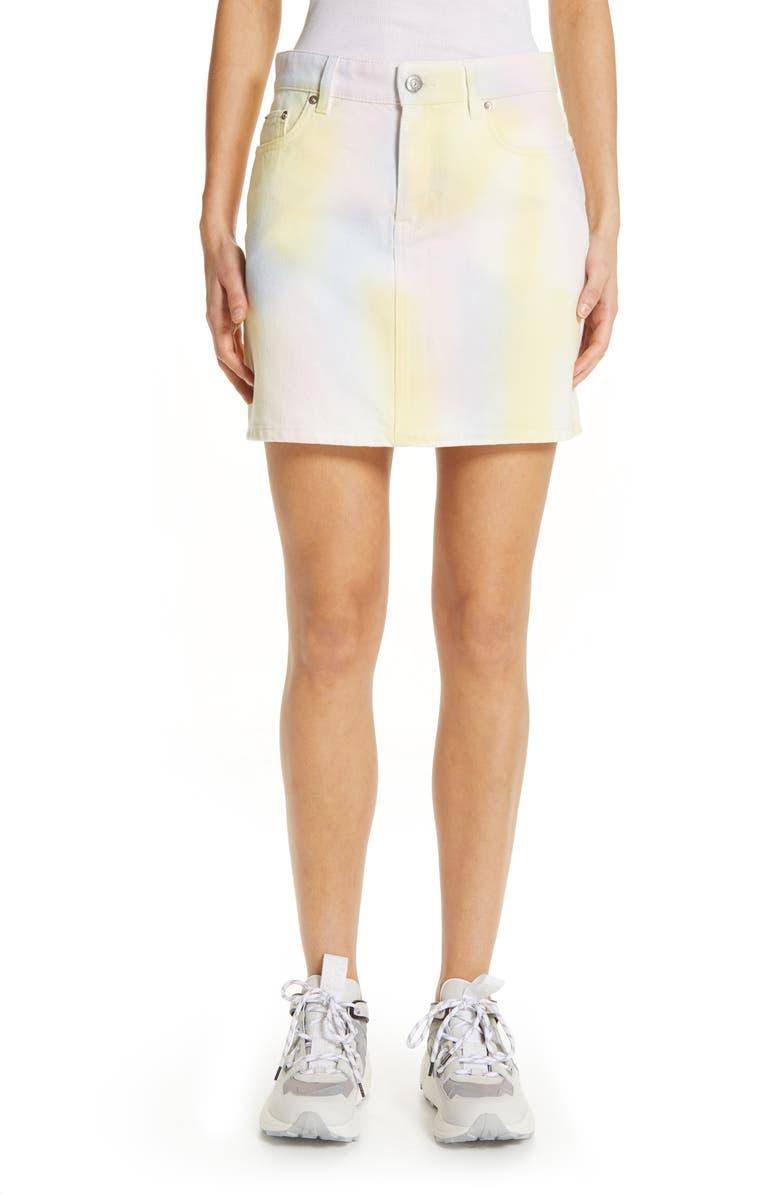 Ganni Skirts COLORED WASH DENIM SKIRT