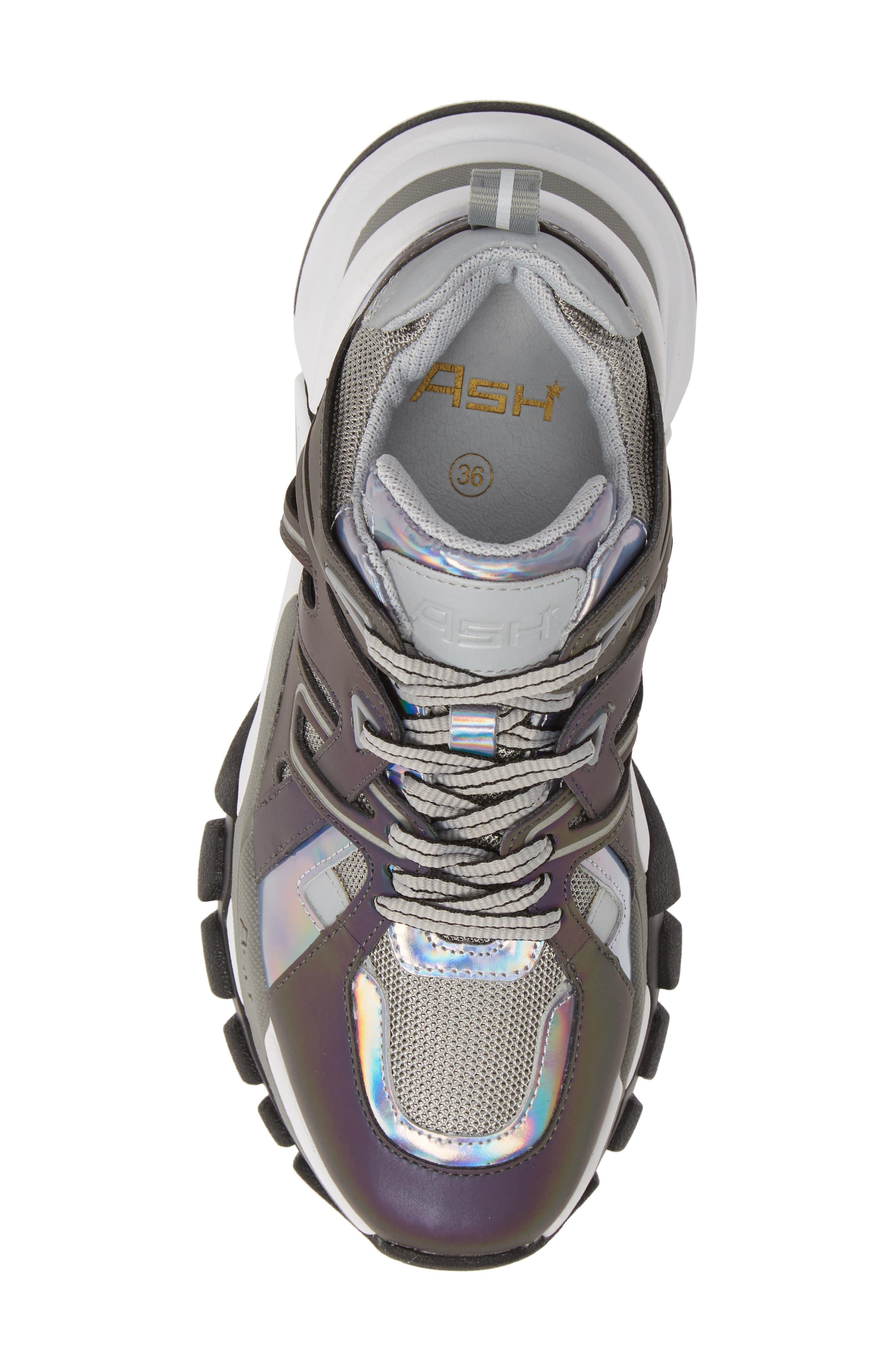 ASH, Flash Sneaker, Alternate thumbnail 5, color, GREY/ STROBE RAINBOW