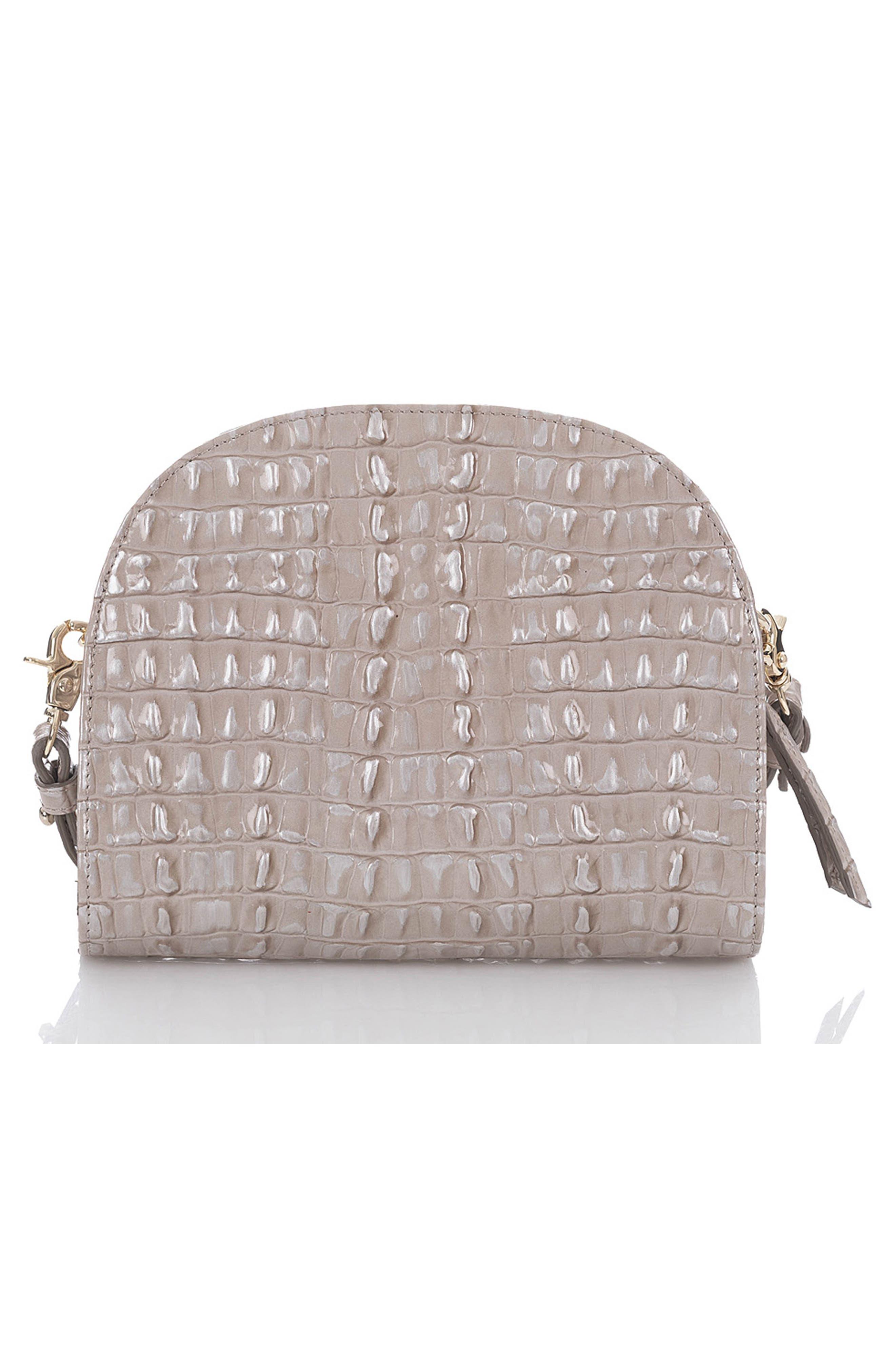 BRAHMIN, Leah Croc Embossed Leather Crossbody Bag, Alternate thumbnail 2, color, 020