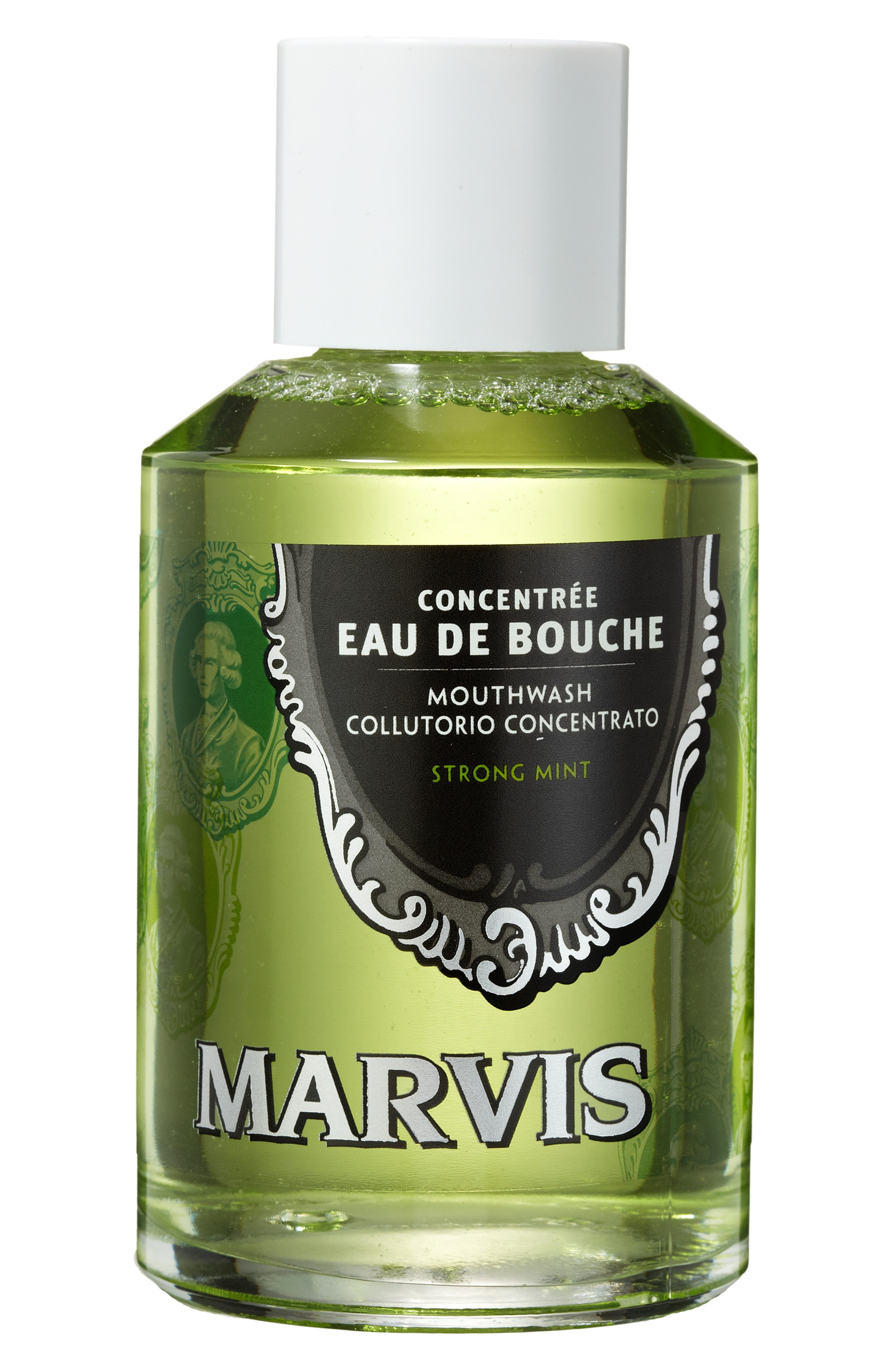 C.O. BIGELOW,  'Marvis' Strong Mint Mouthwash Concentrate, Alternate thumbnail 3, color, NO COLOR