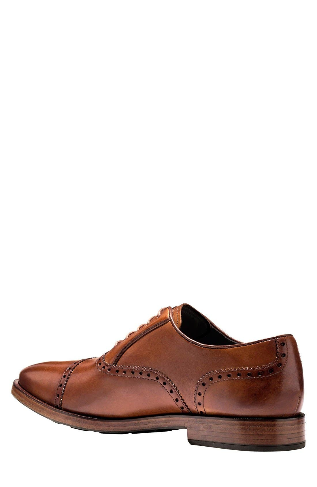 COLE HAAN, 'Hamilton' Cap Toe Oxford, Alternate thumbnail 2, color, BRITISH TAN LEATHER