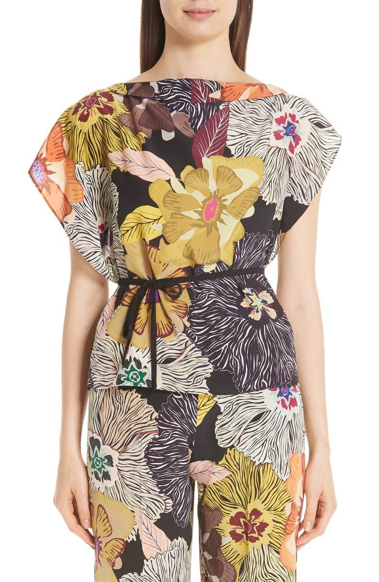 50b03c3af5338 Etro Floral Print Silk Top
