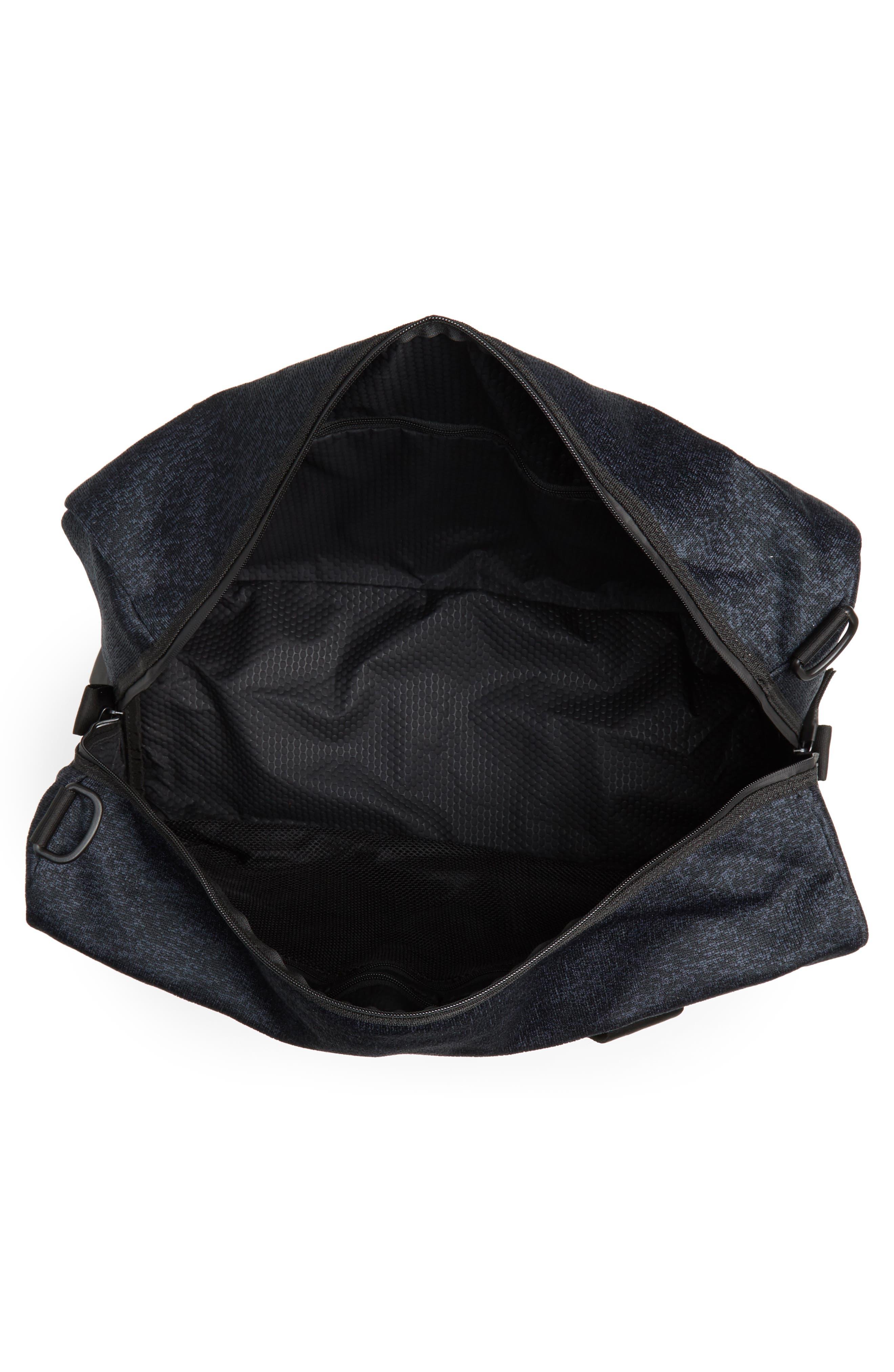 ADIDAS ORIGINALS, PK Amplifier Duffle Bag, Alternate thumbnail 4, color, GREY/ BLACK