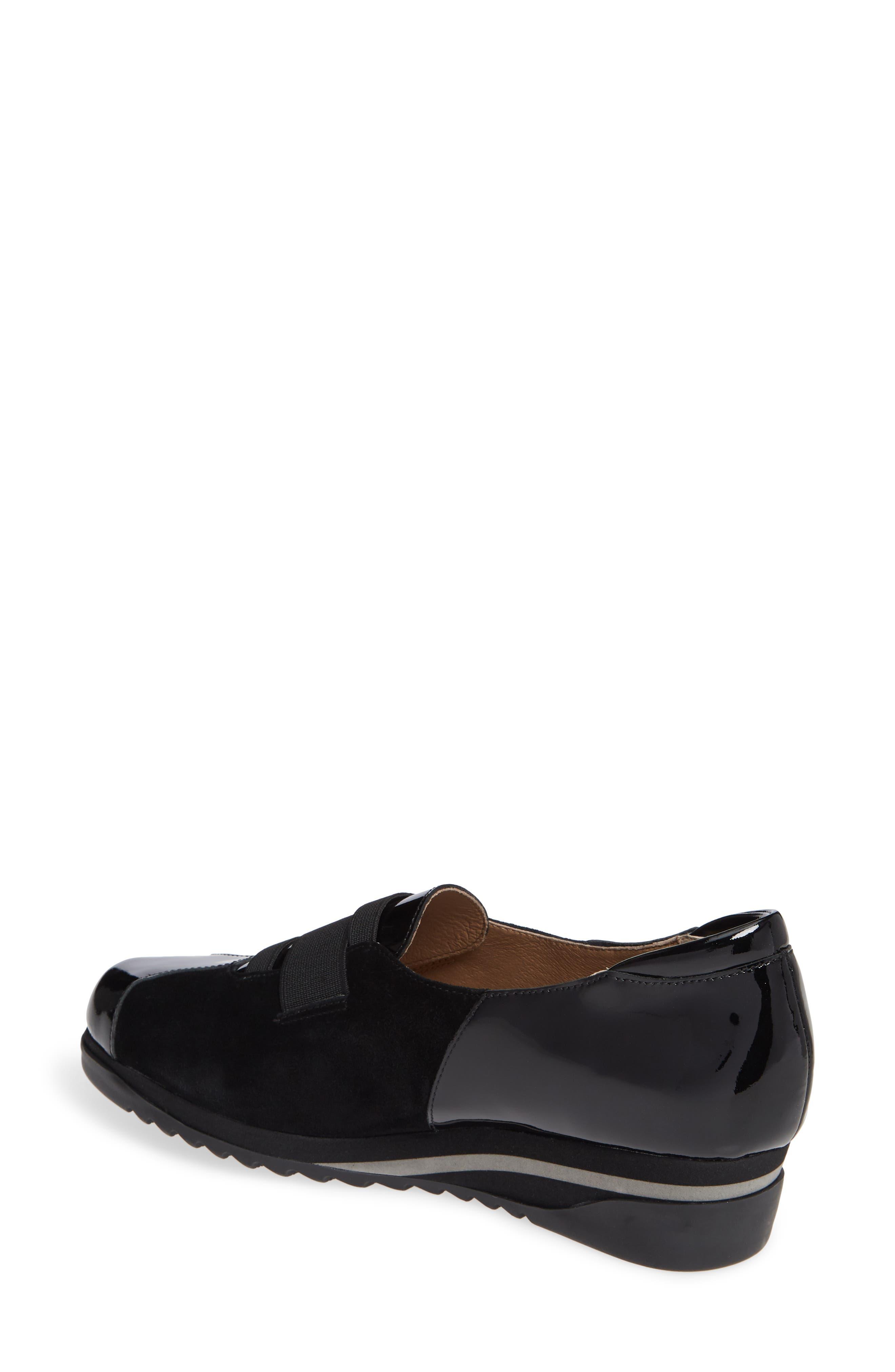 BETTYE MULLER CONCEPTS, Taytum Sneaker, Alternate thumbnail 2, color, BLACK SUEDE