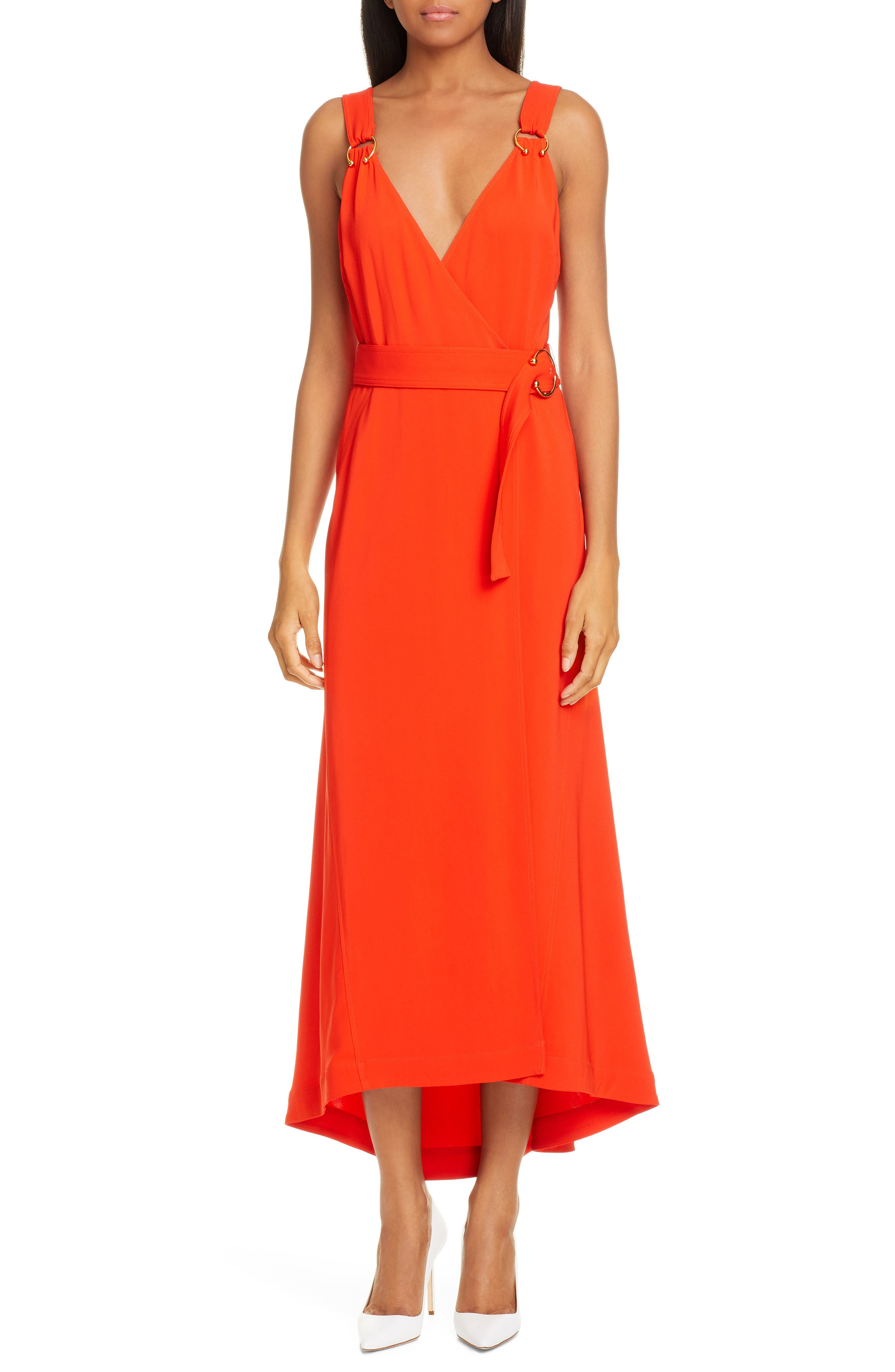 A.l.c. Haley Ring Detail Wrap Dress, Red
