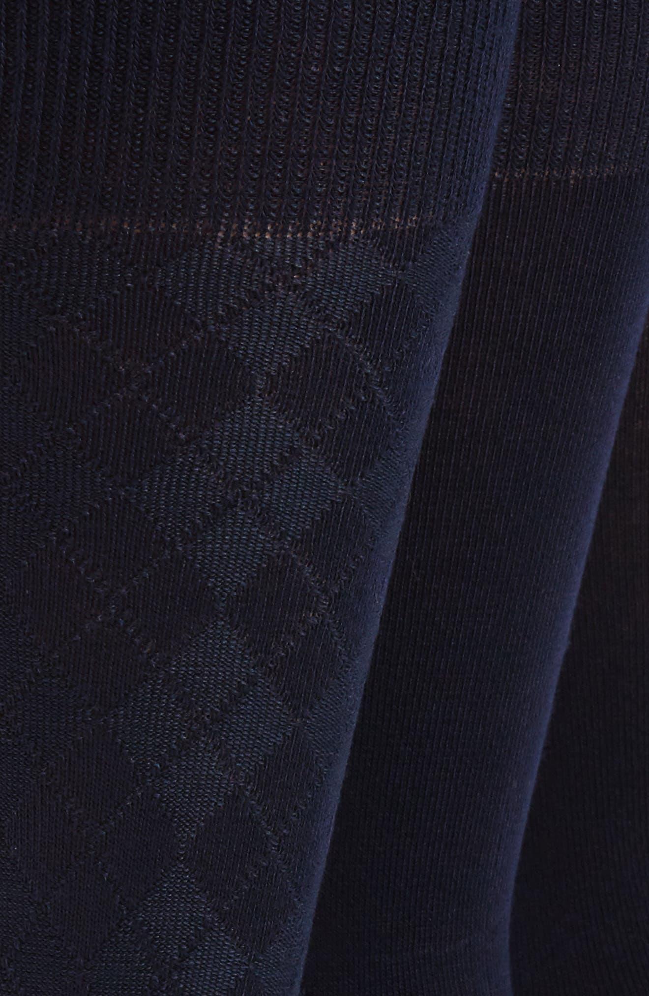 CALVIN KLEIN, 3-Pack Socks, Alternate thumbnail 2, color, NAVY