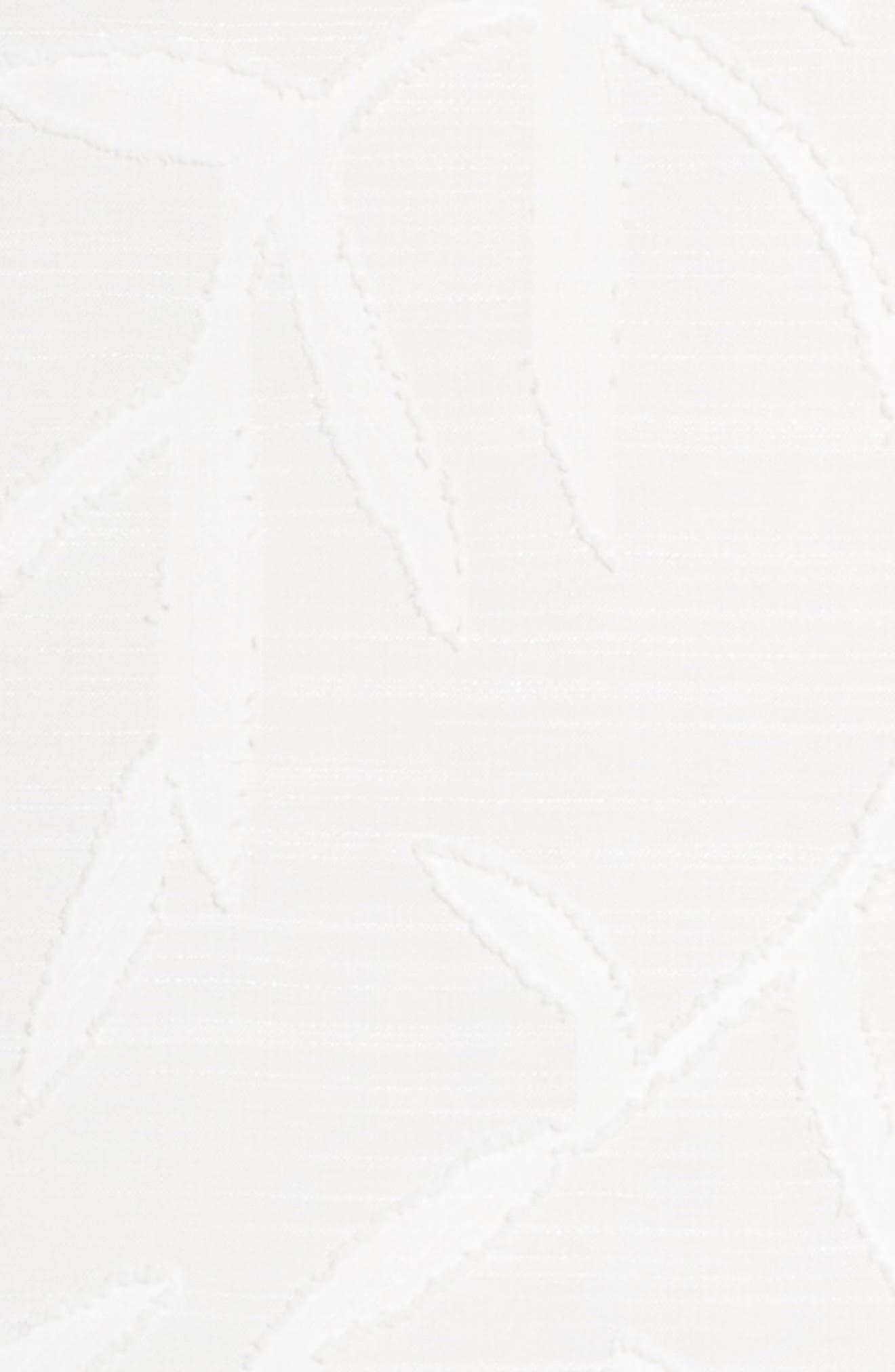 BETSEY JOHNSON, Clipped Jacquard Shift Dress, Alternate thumbnail 6, color, 900