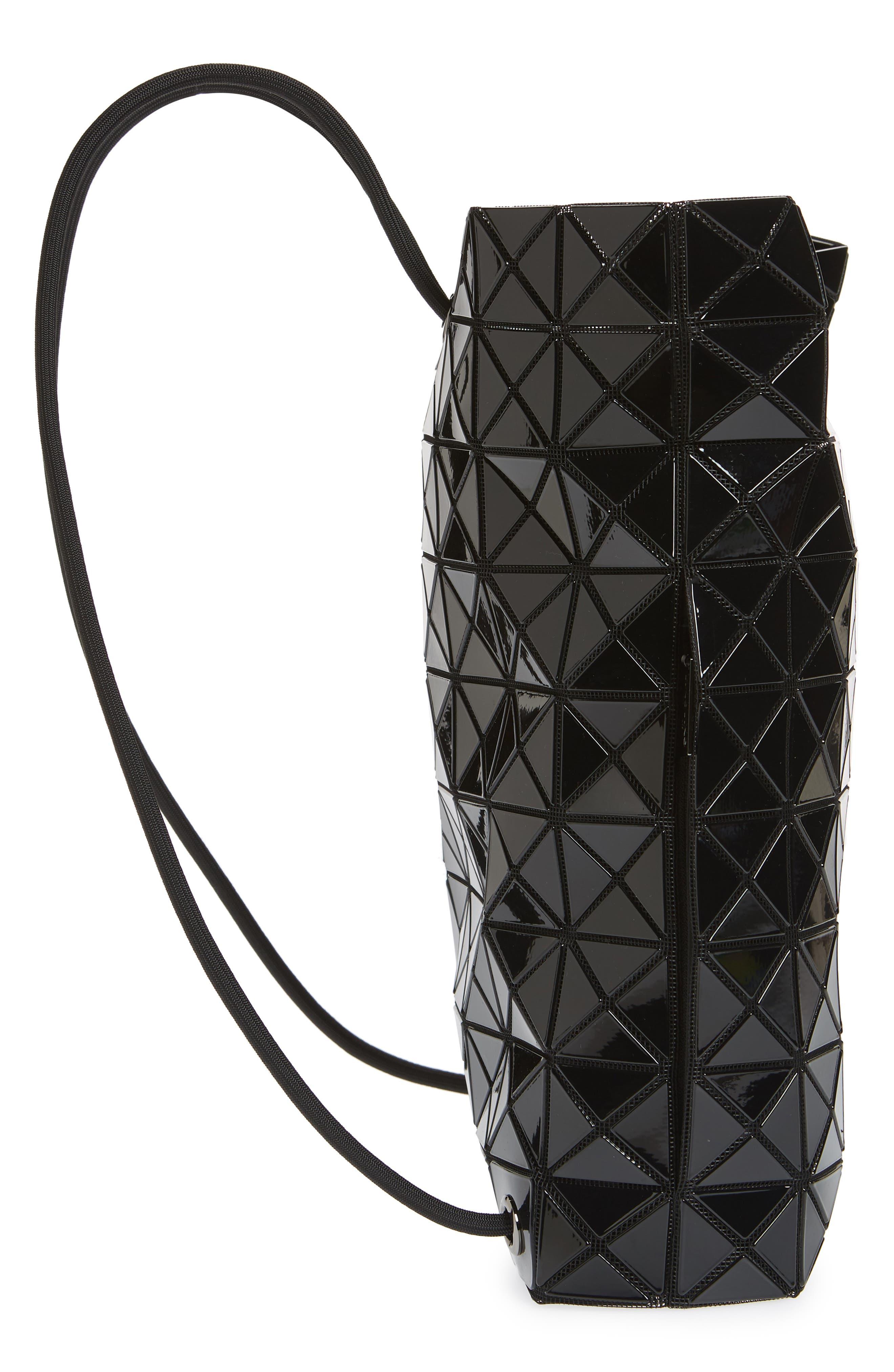 BAO BAO ISSEY MIYAKE, Wring Flat Backpack, Alternate thumbnail 6, color, BLACK
