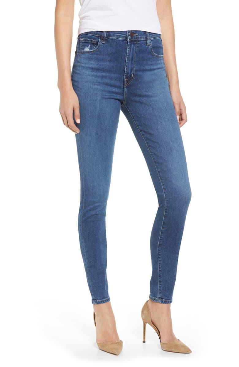 J Brand Jeans CAROLINA SUPER HIGH WAIST SKINNY JEANS