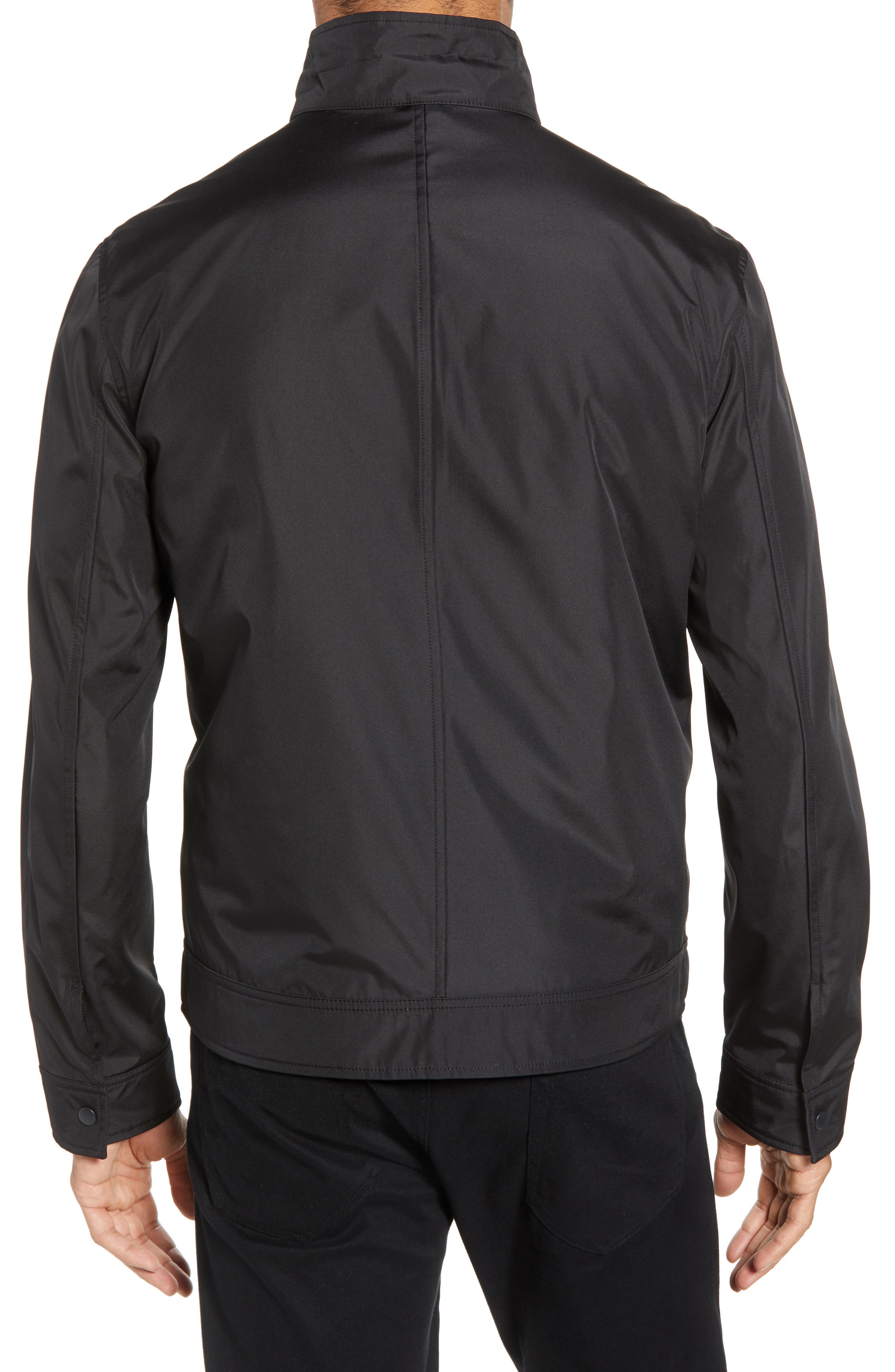ZACHARY PRELL, Oxford 2-in-1 Jacket, Alternate thumbnail 2, color, BLACK