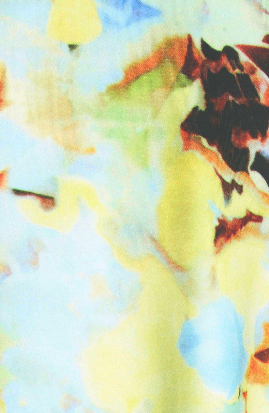 J.O.A., Abstract Floral Print Mini Dress, Alternate thumbnail 3, color, 650