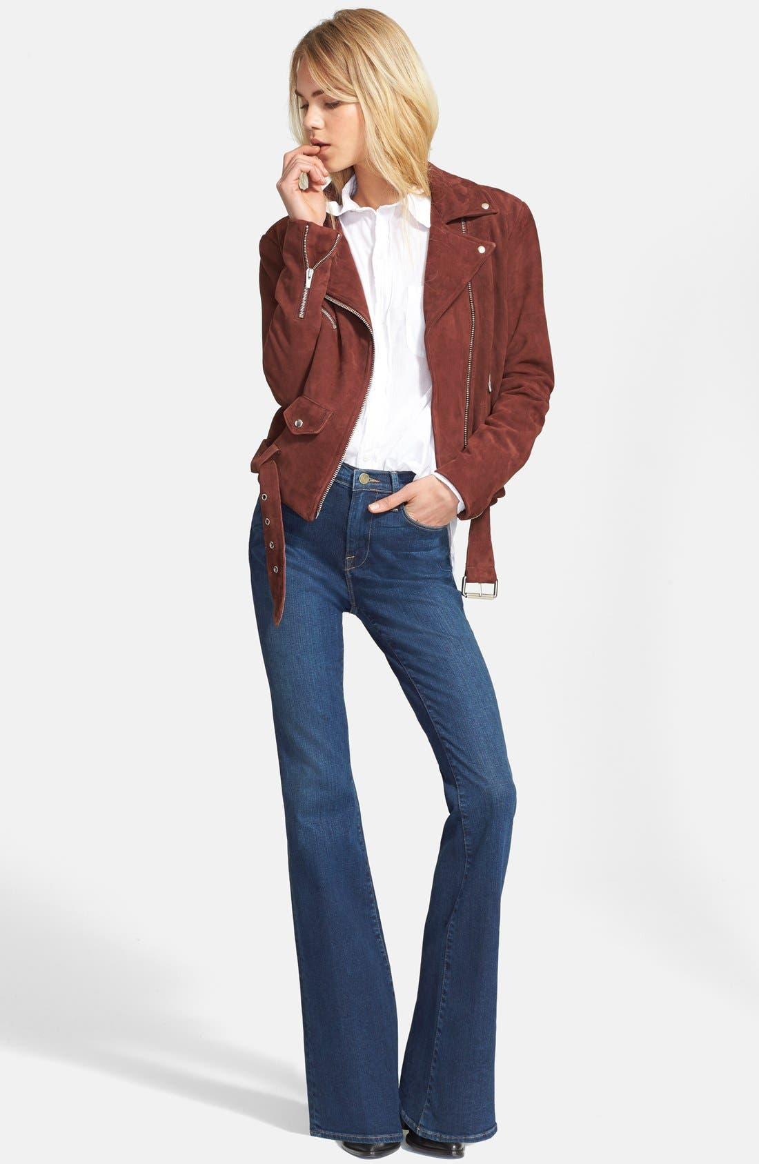 FRAME, Denim 'Le High Flare' Flare Leg Jeans, Alternate thumbnail 5, color, 401