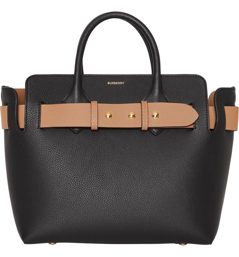 eadcf9432035 Burberry Small Belt Leather Satchel