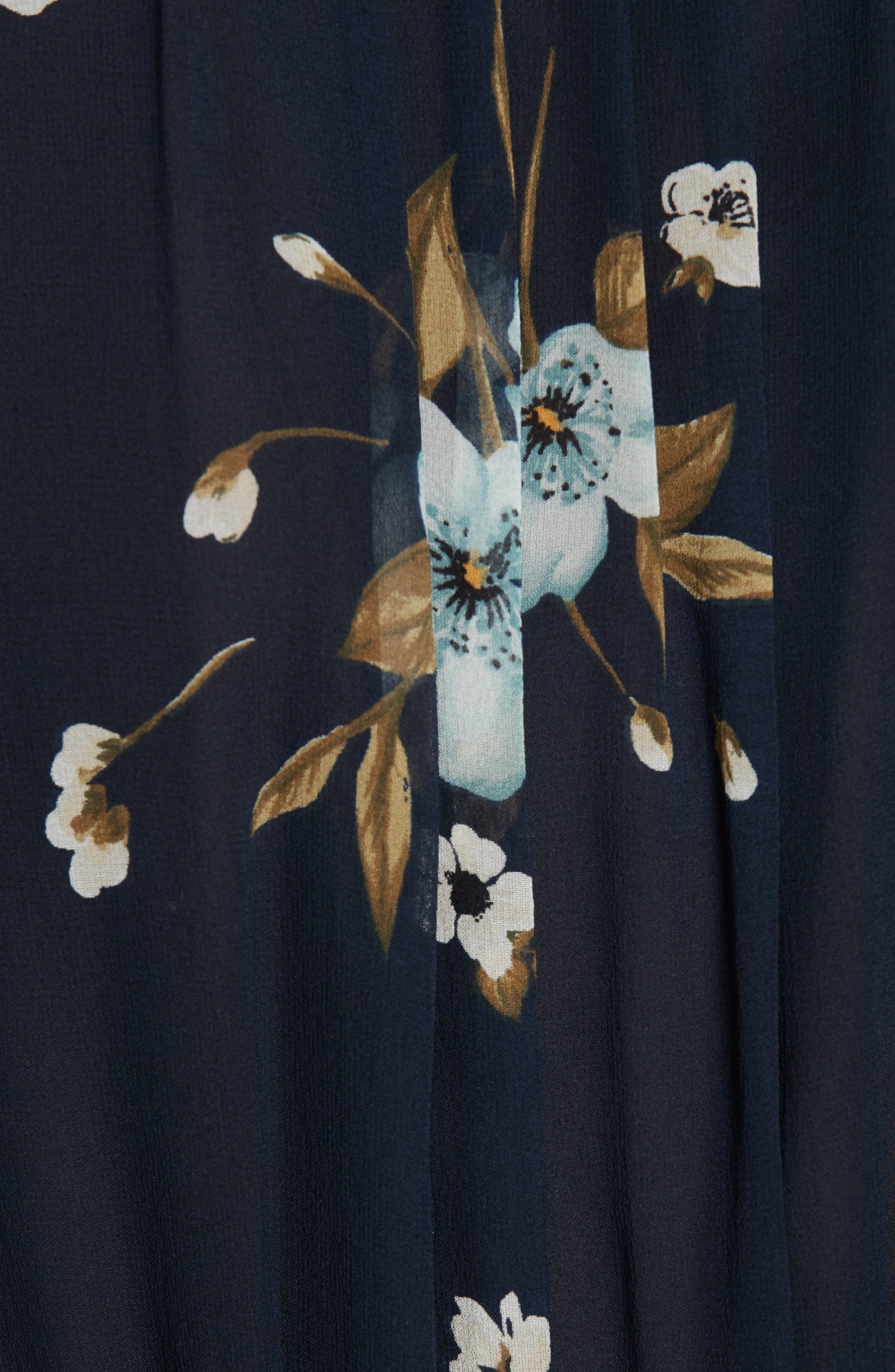 JOIE, Abbryana Silk Chiffon High Neck Dress, Alternate thumbnail 6, color, 440